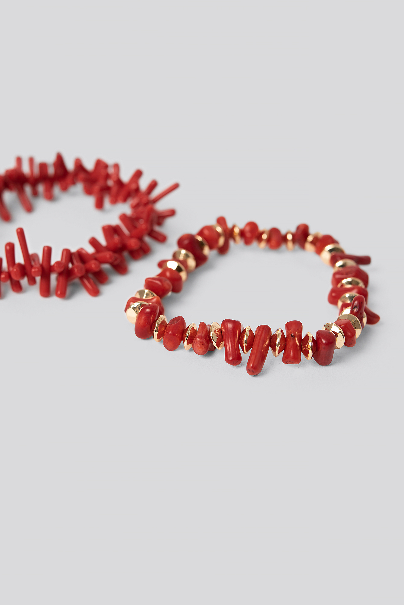 Red 2-pack Coral Look Bracelets