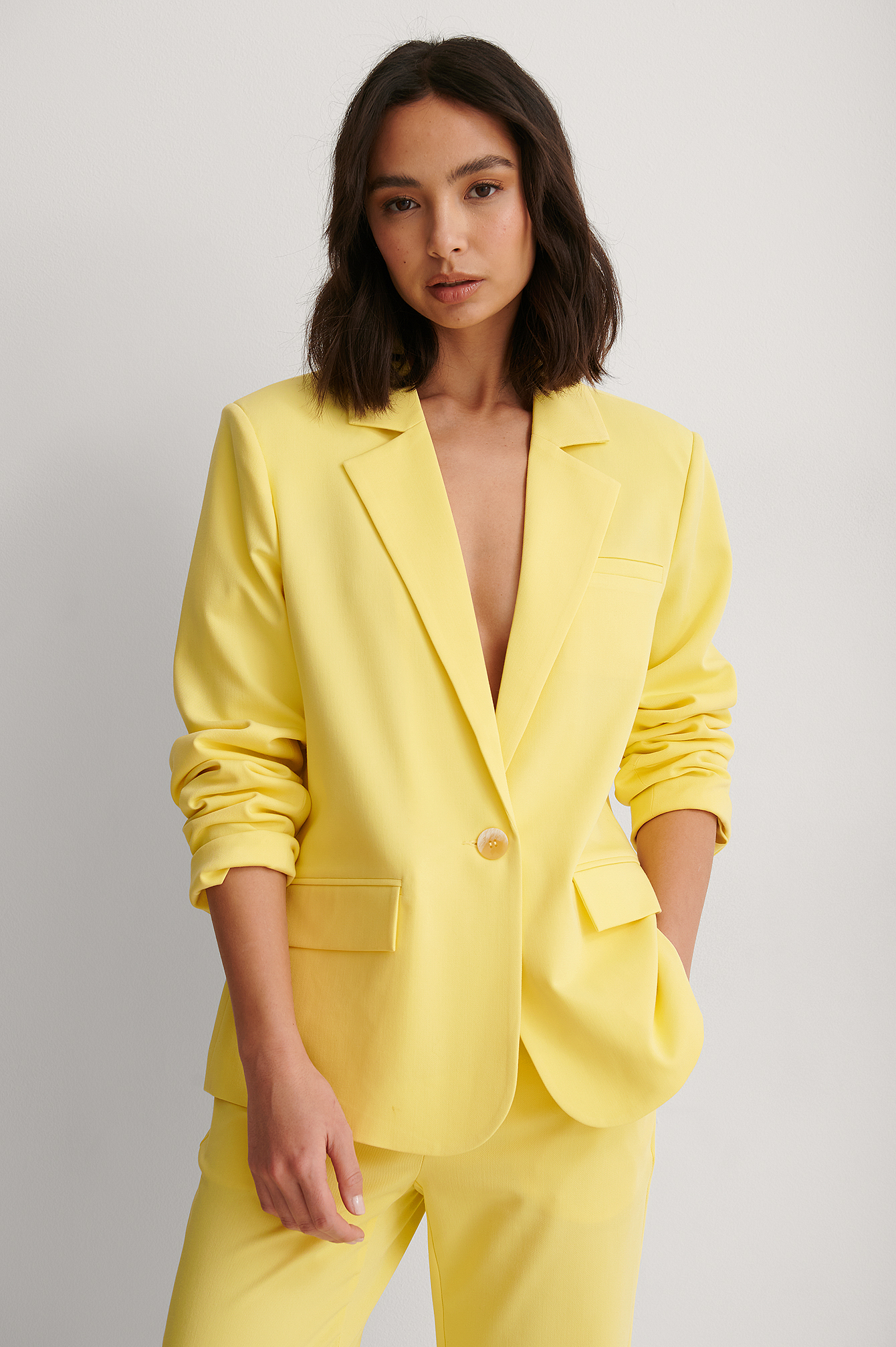 Yellow Coupe Droite Blazer