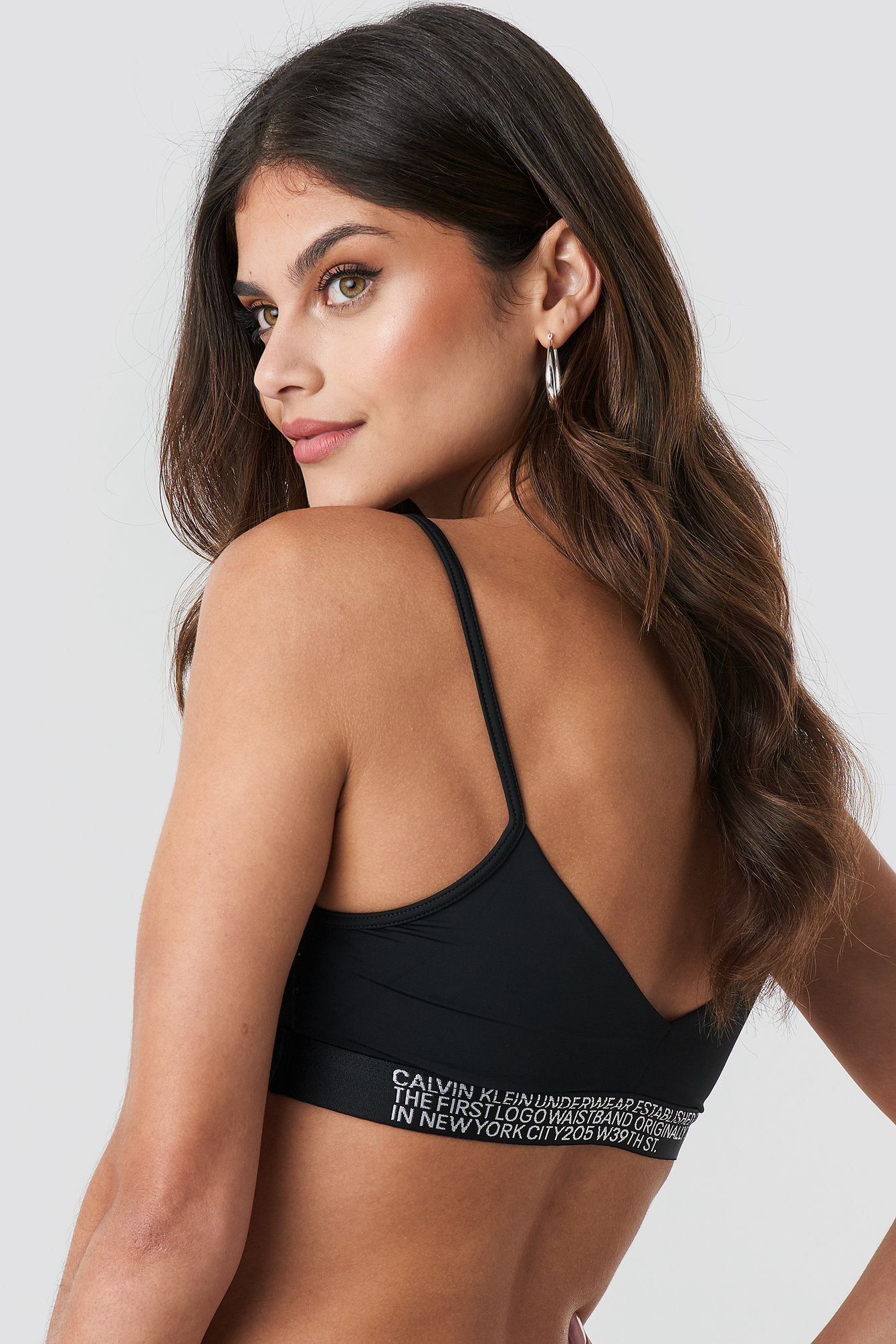 Black Unlined Triangle Bralette