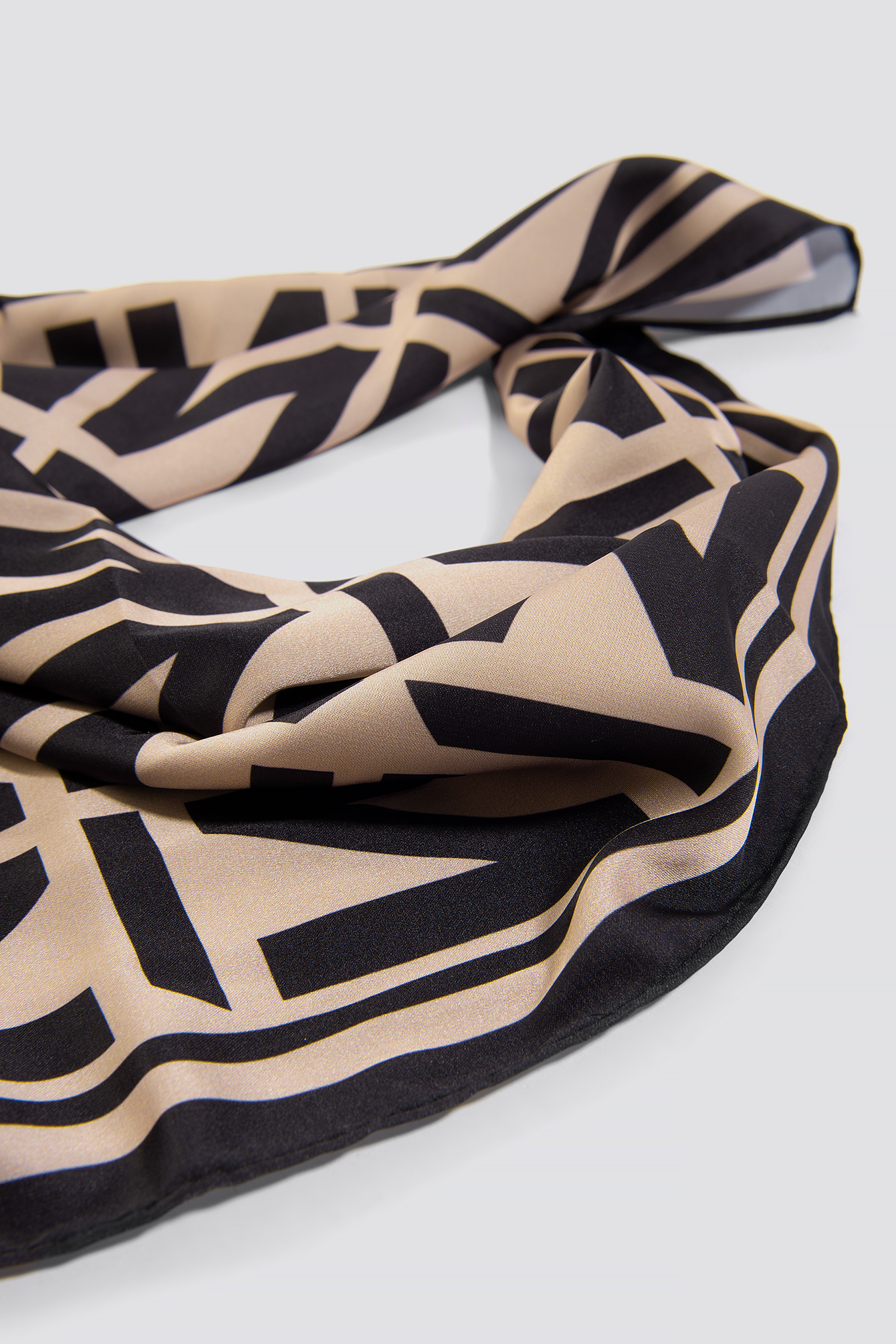Cream N Branded Satin Scarf