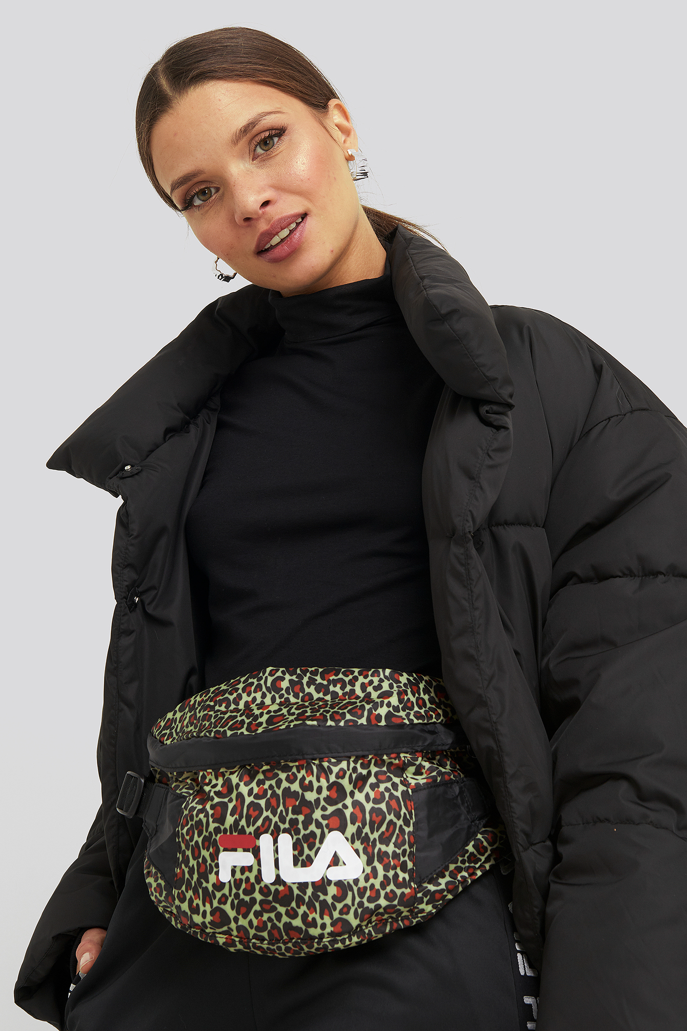 Black Leopard Print Light Weight Waist Bag Göteborg
