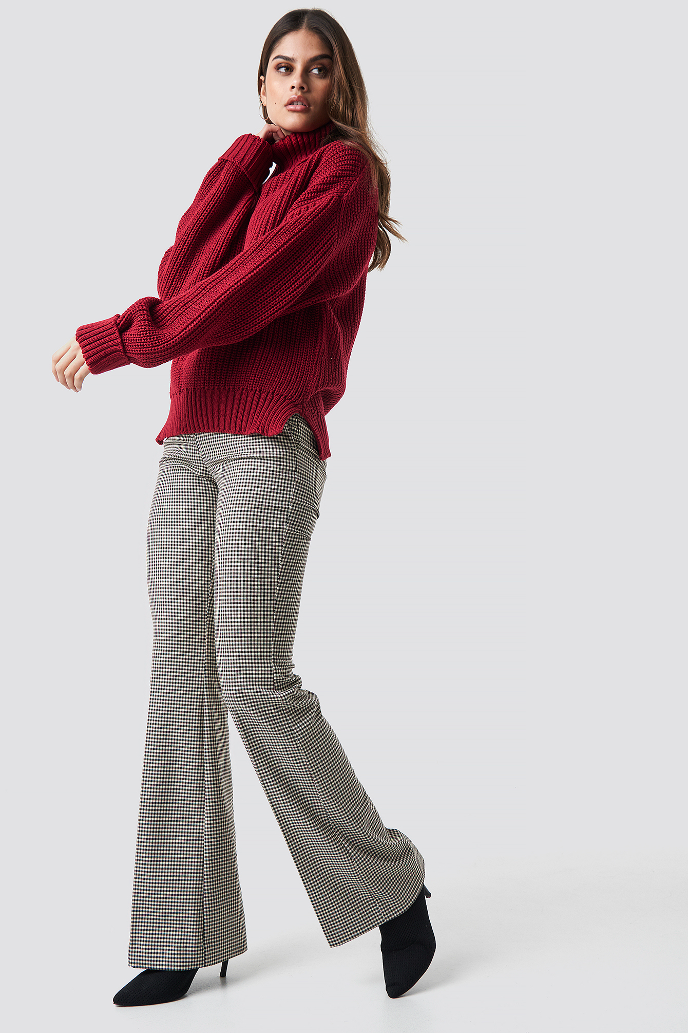 Raspberry Polo Knitted Jumper
