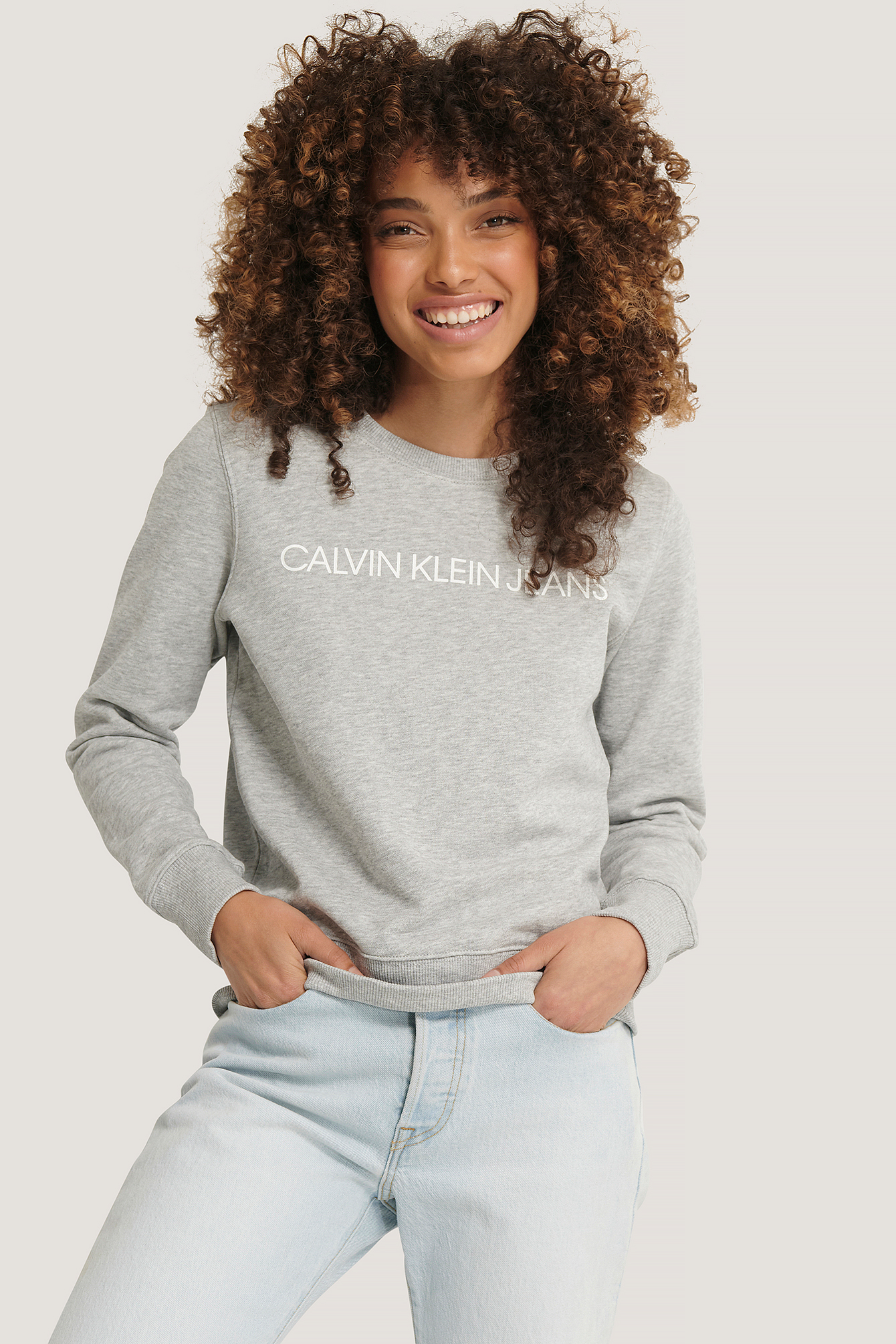 Light Grey Institutional Core Logo Sweater