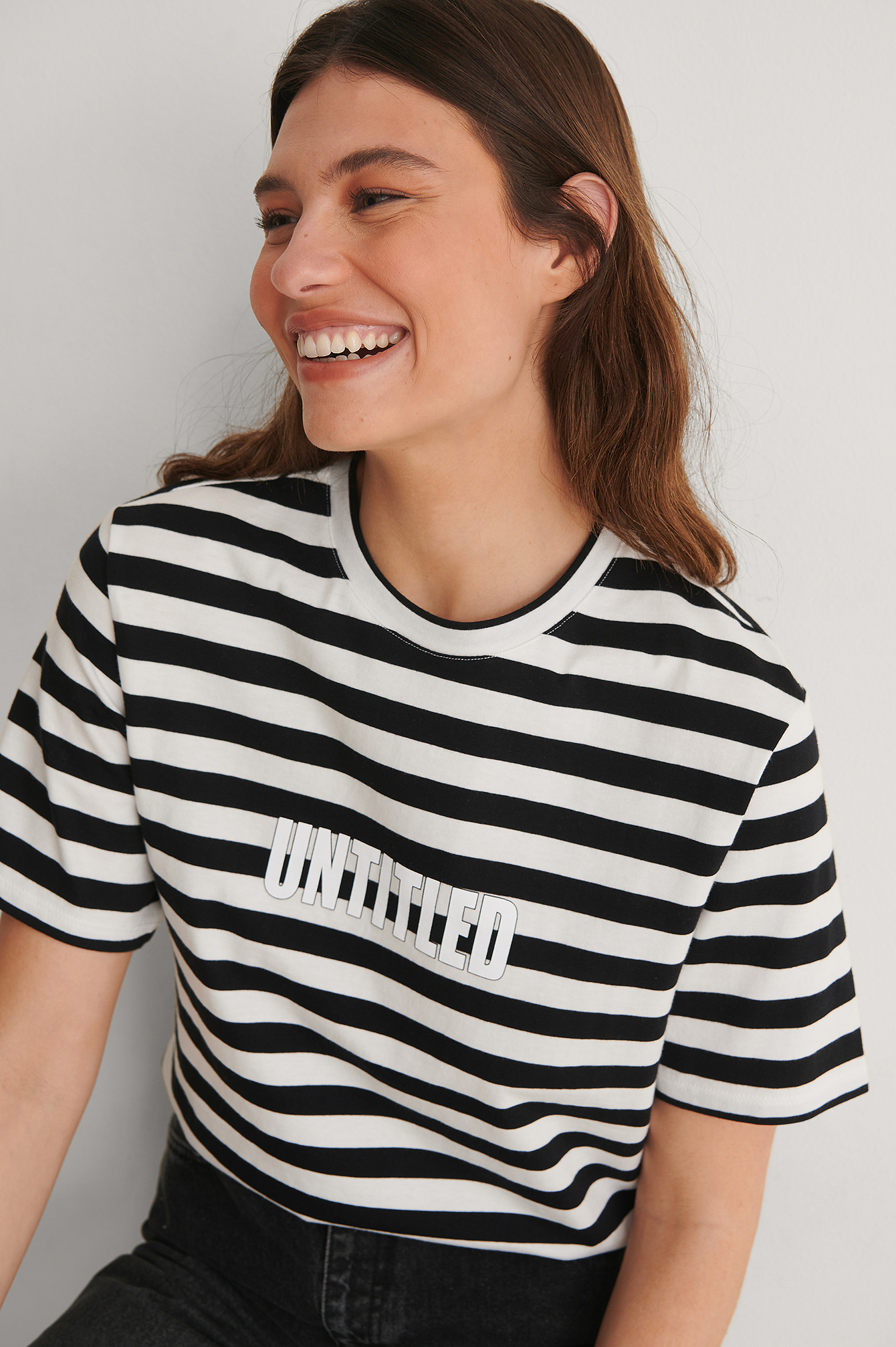 Striped Striped Oversized Tee