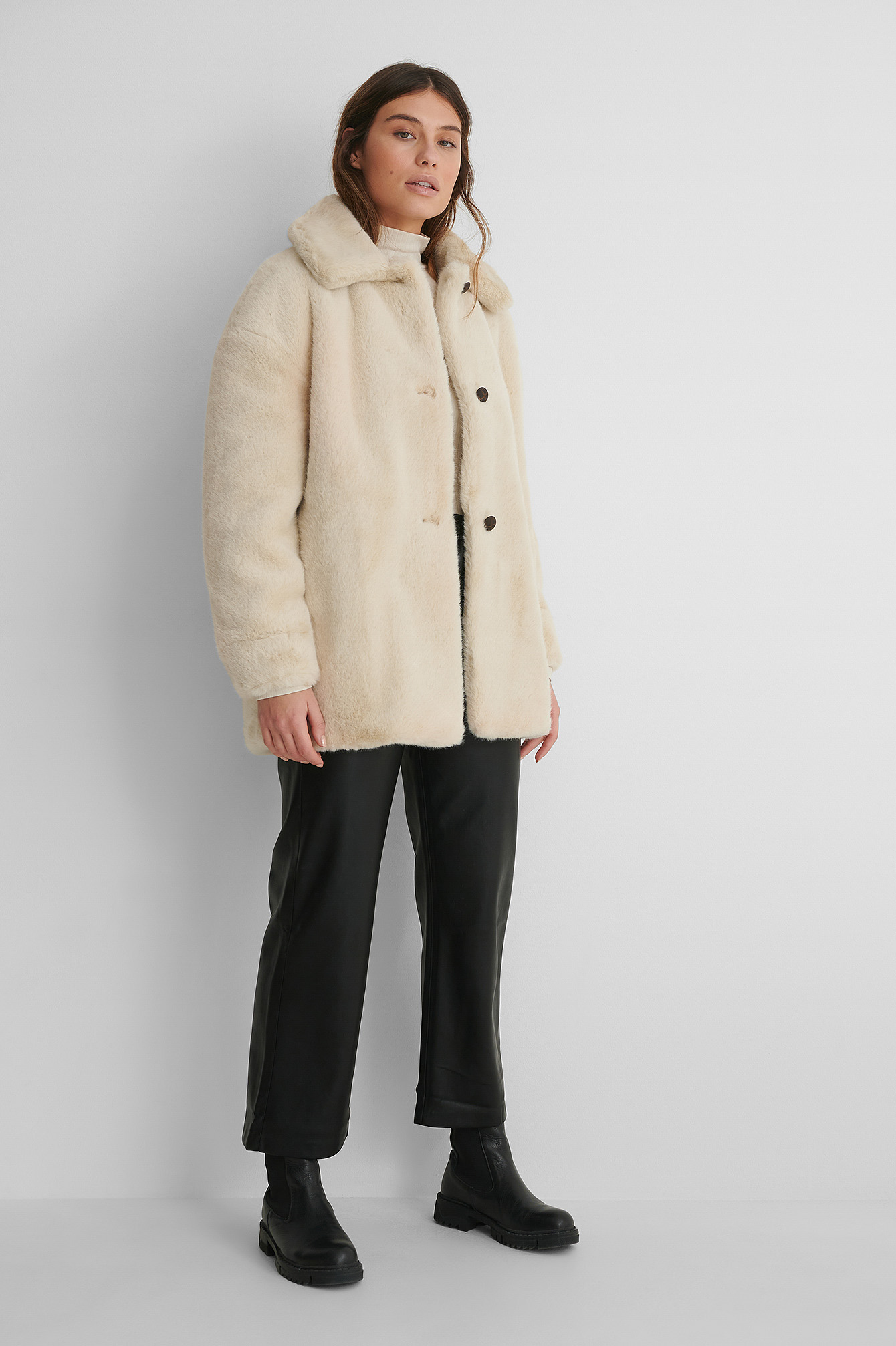 Light Beige Manteau