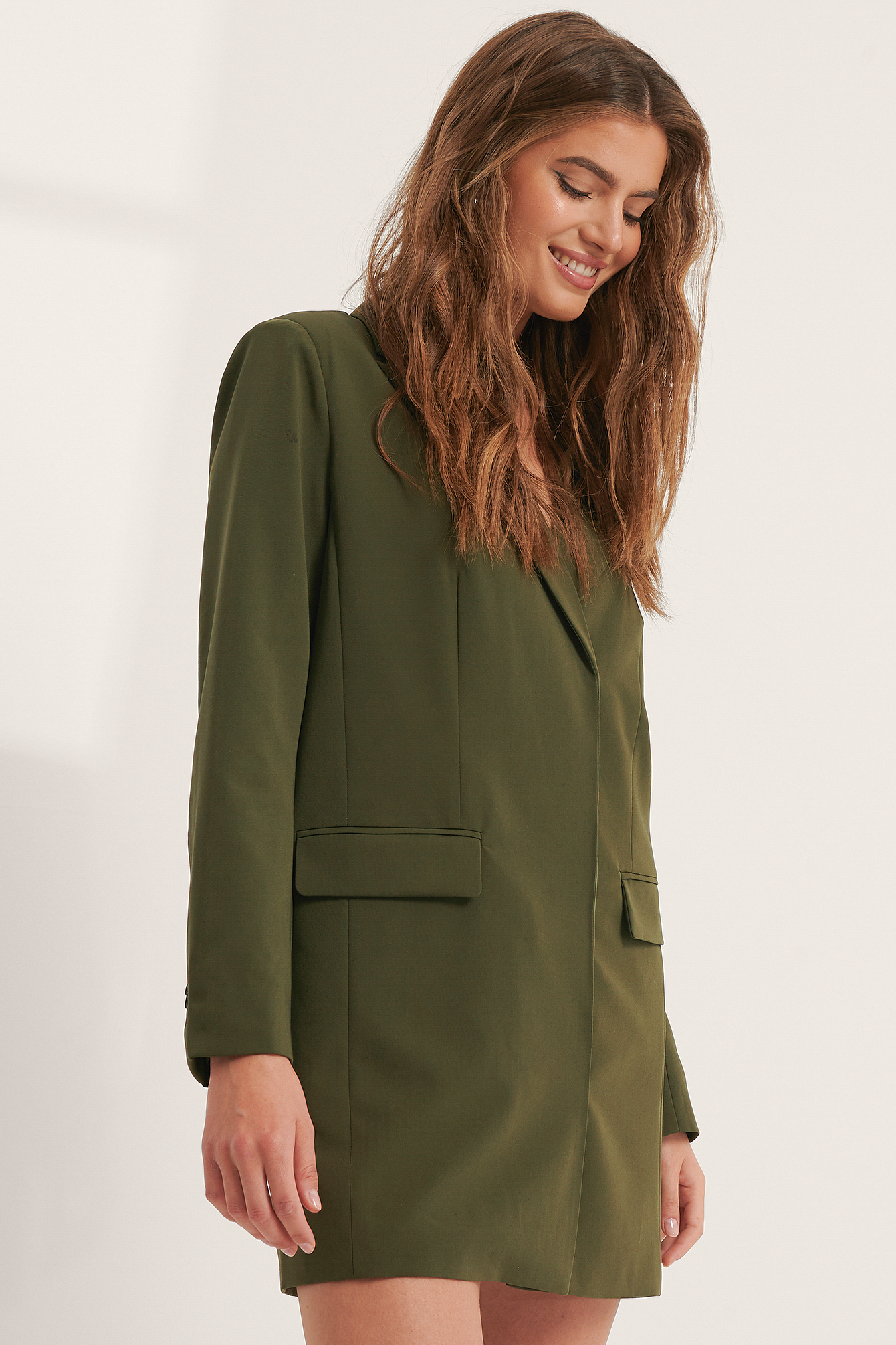 Dark Green Robe Blazer
