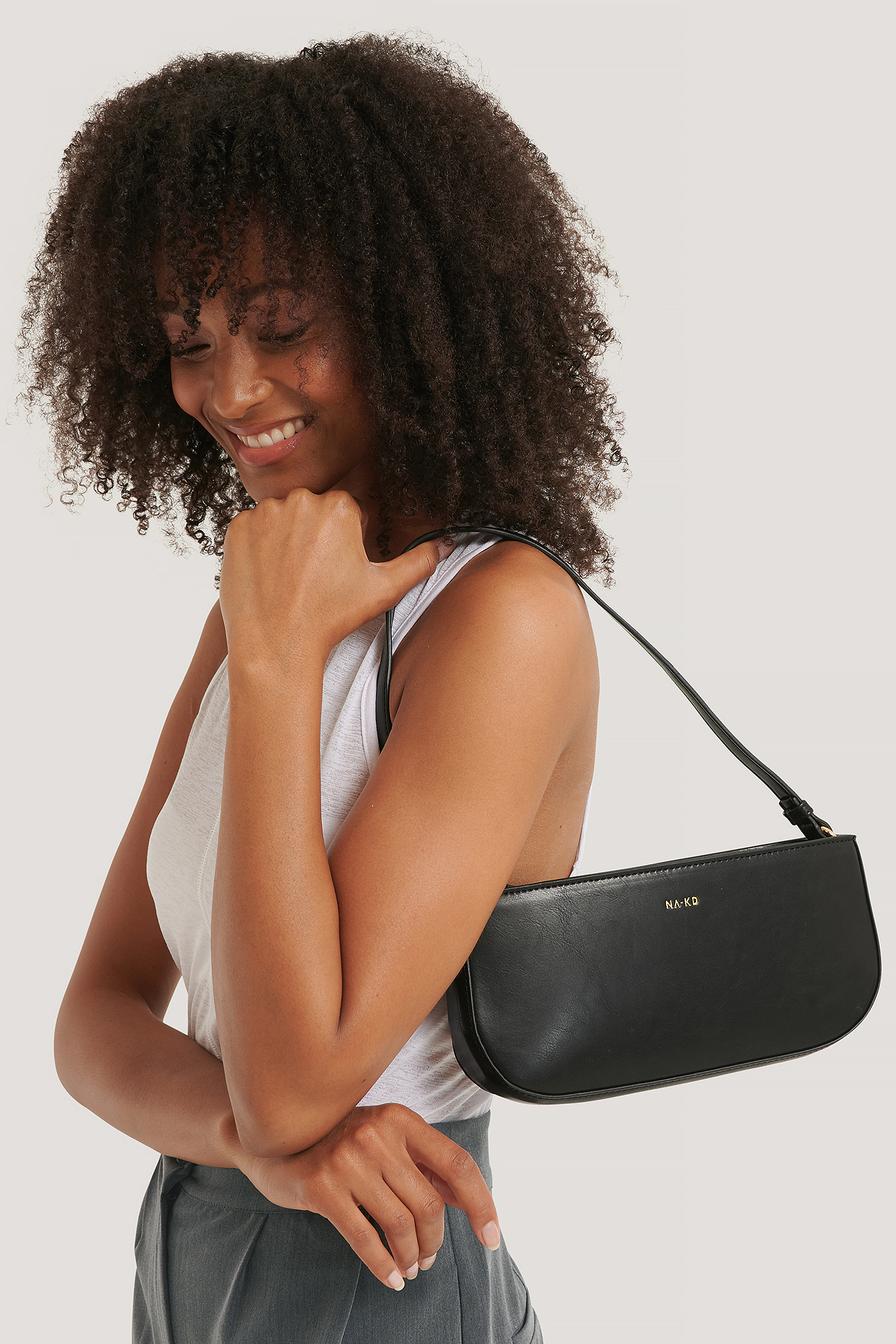 gloss black Baguette Bag