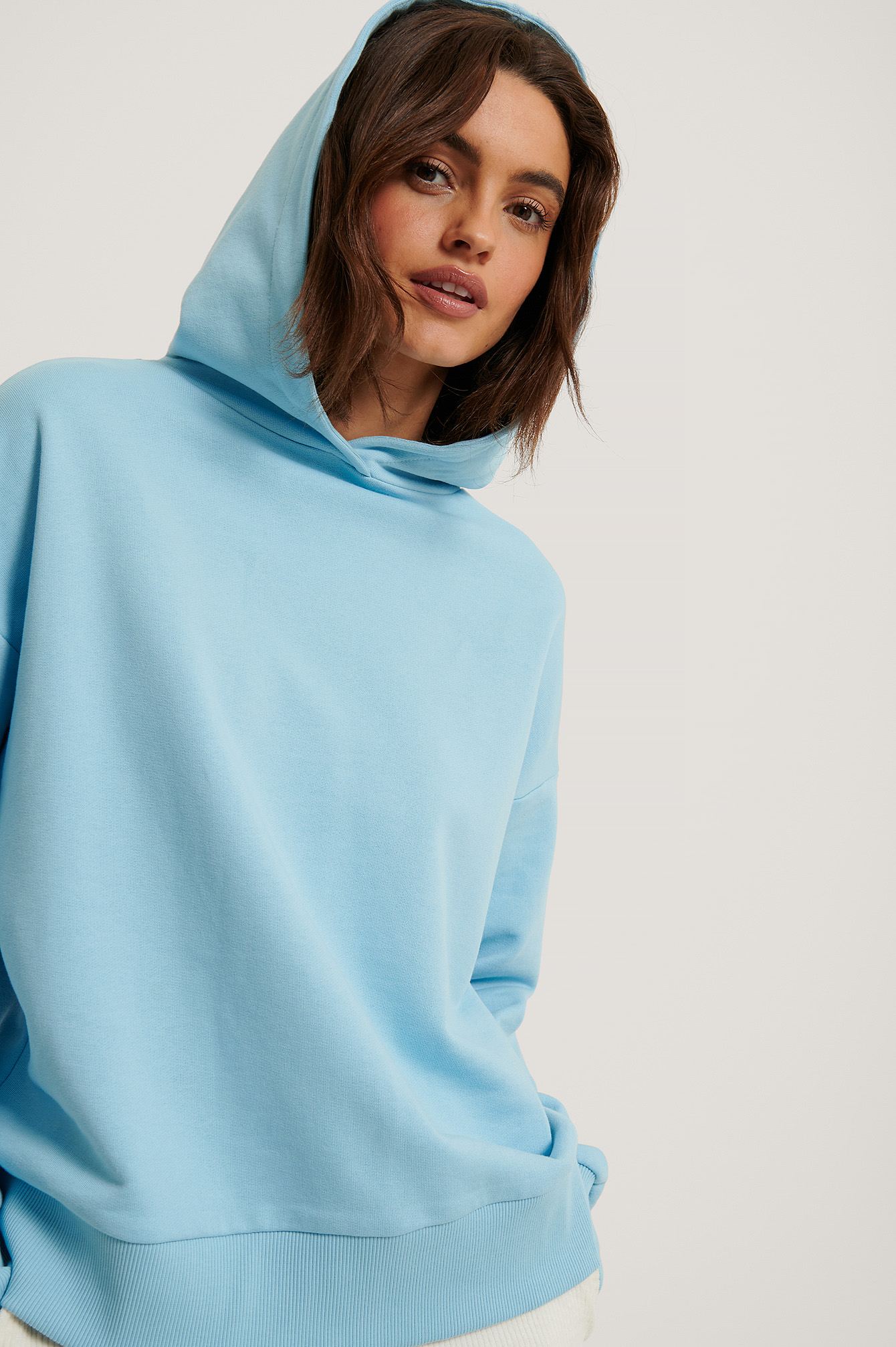 Light Blue Hoodie Large Basique