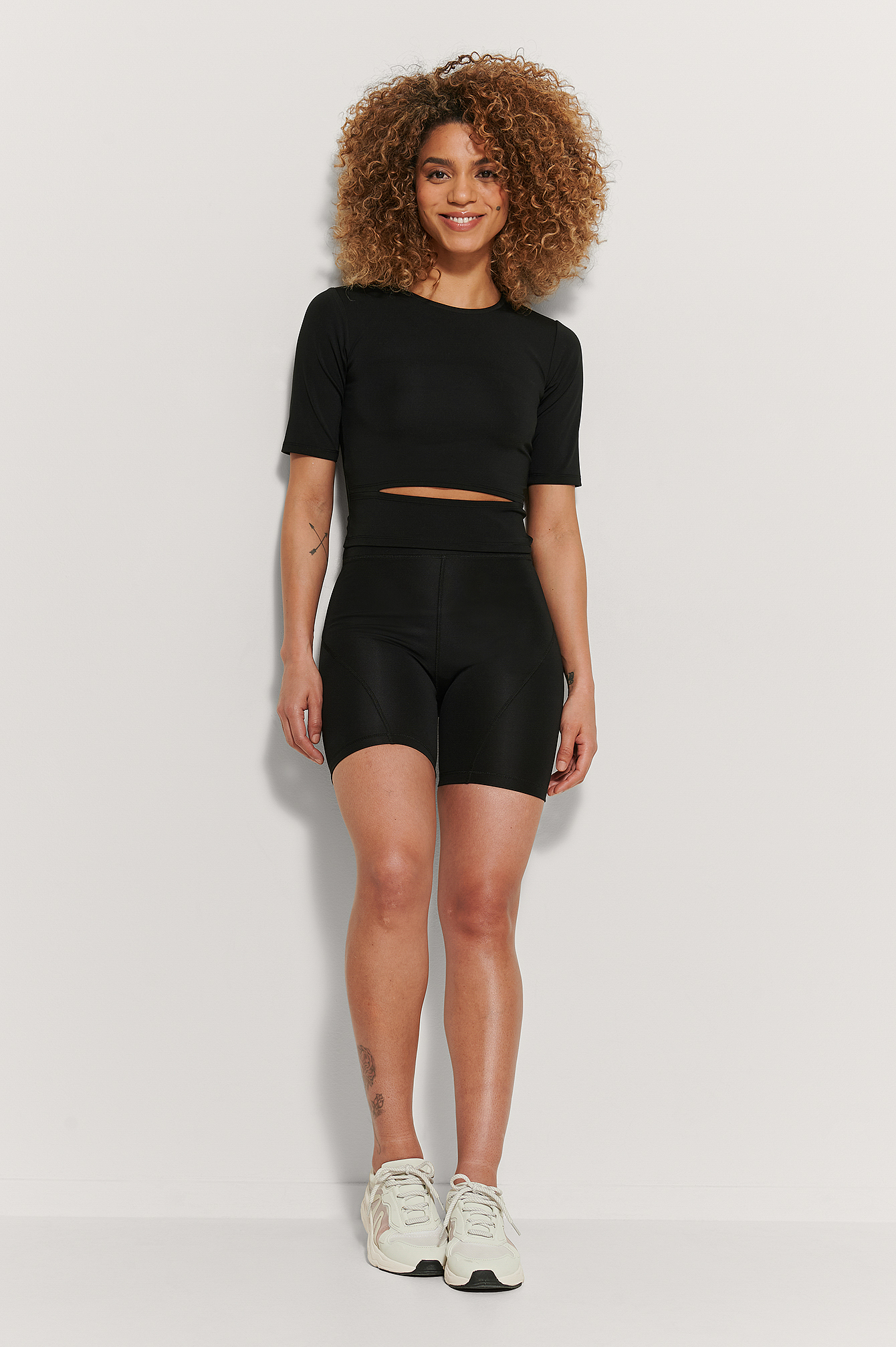 Black Recyclé Short De Cycliste