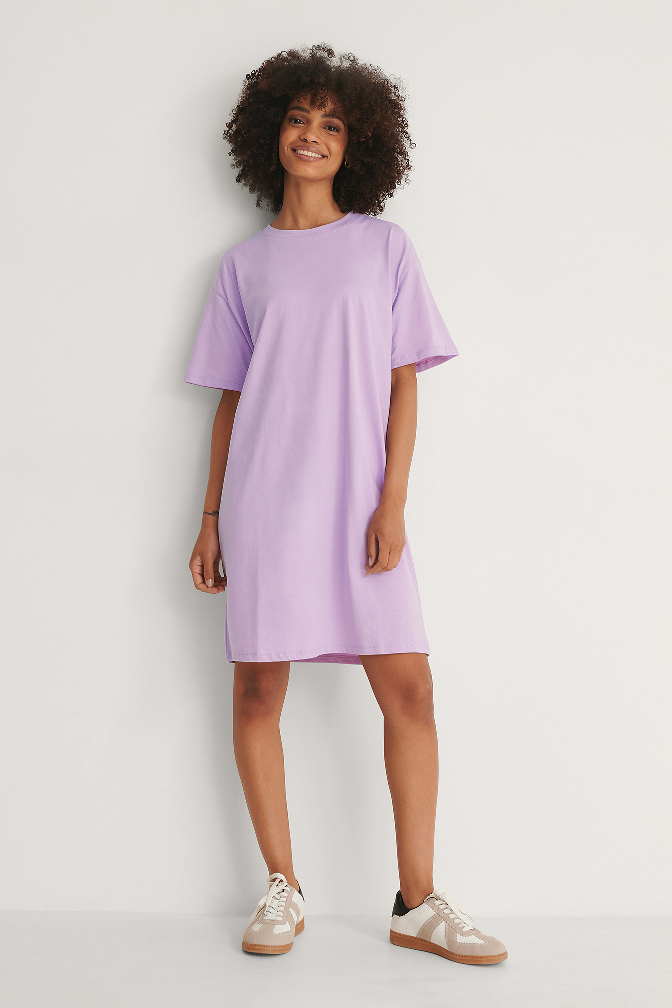 Purple Biologique Robe T-shirt Carrée