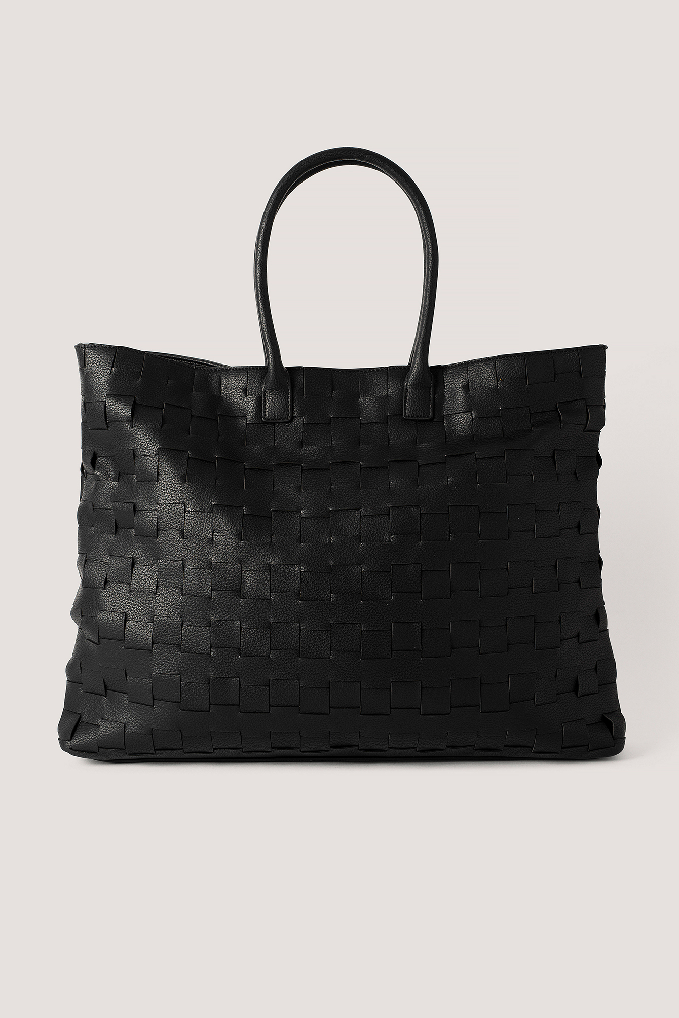 Black Braided Shopper