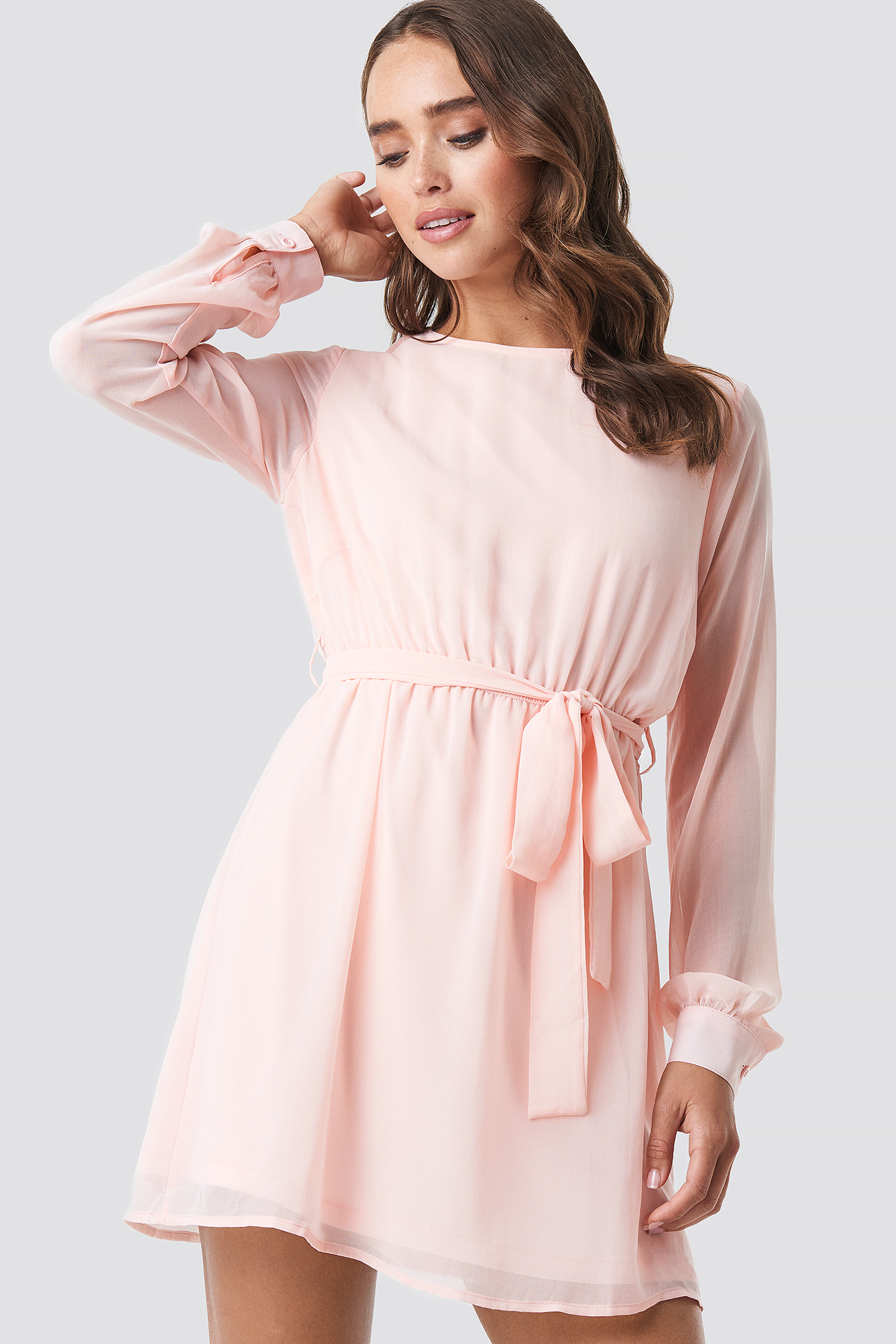 Rose Quartz Chiffon Dress