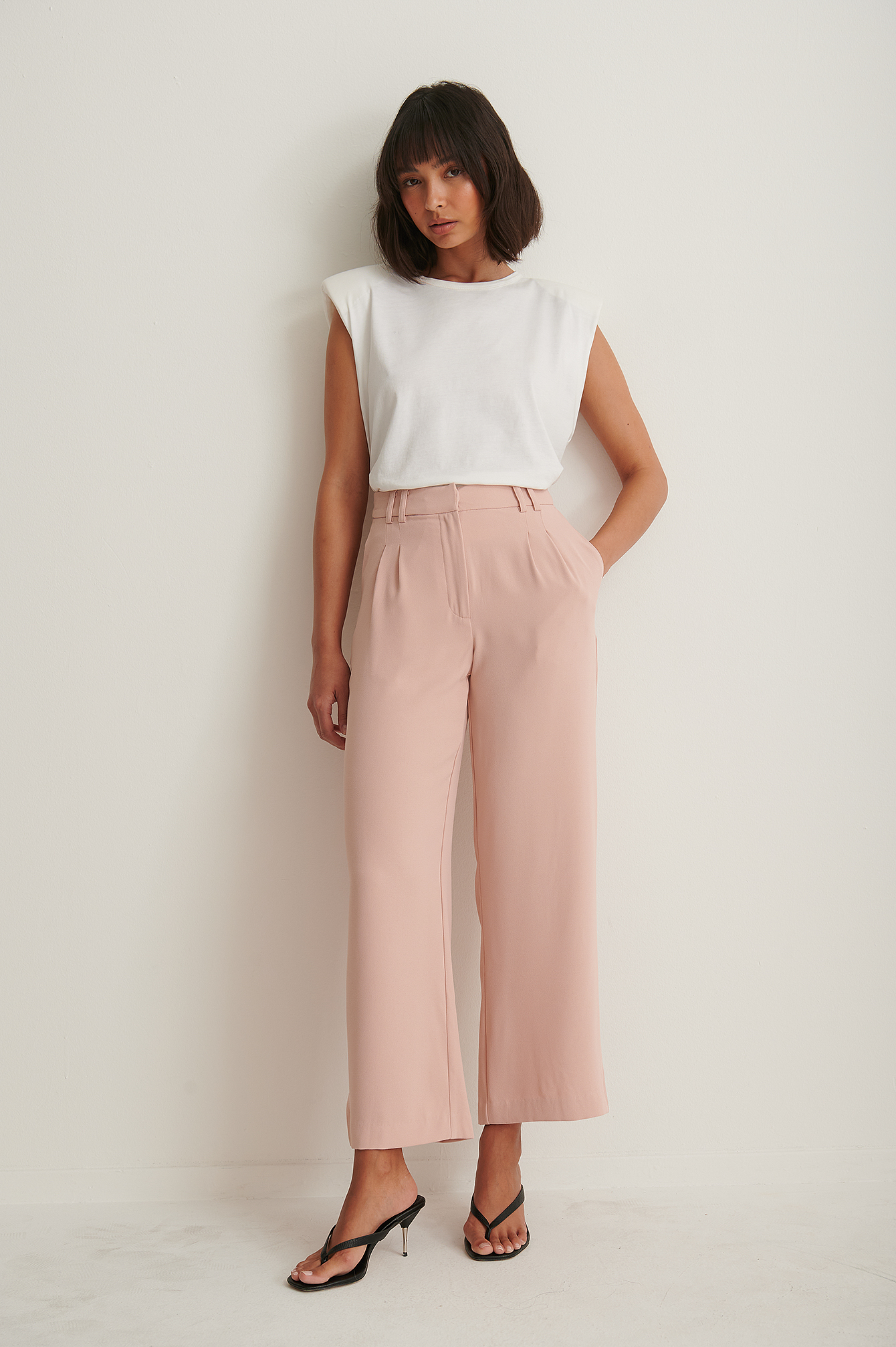 Pink Recyclé Pantalon Ample