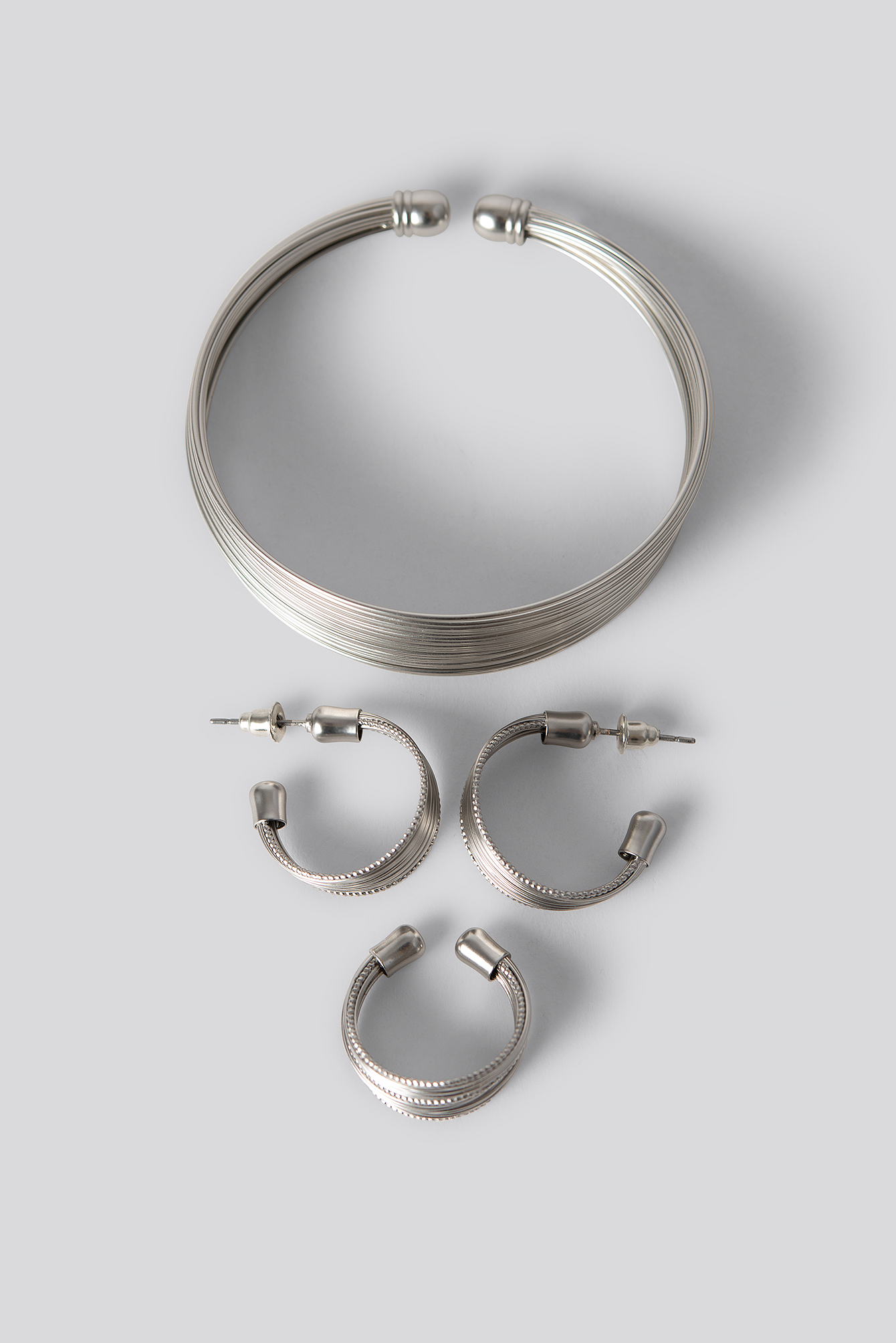 Silver Fine Layered Jewellery Set