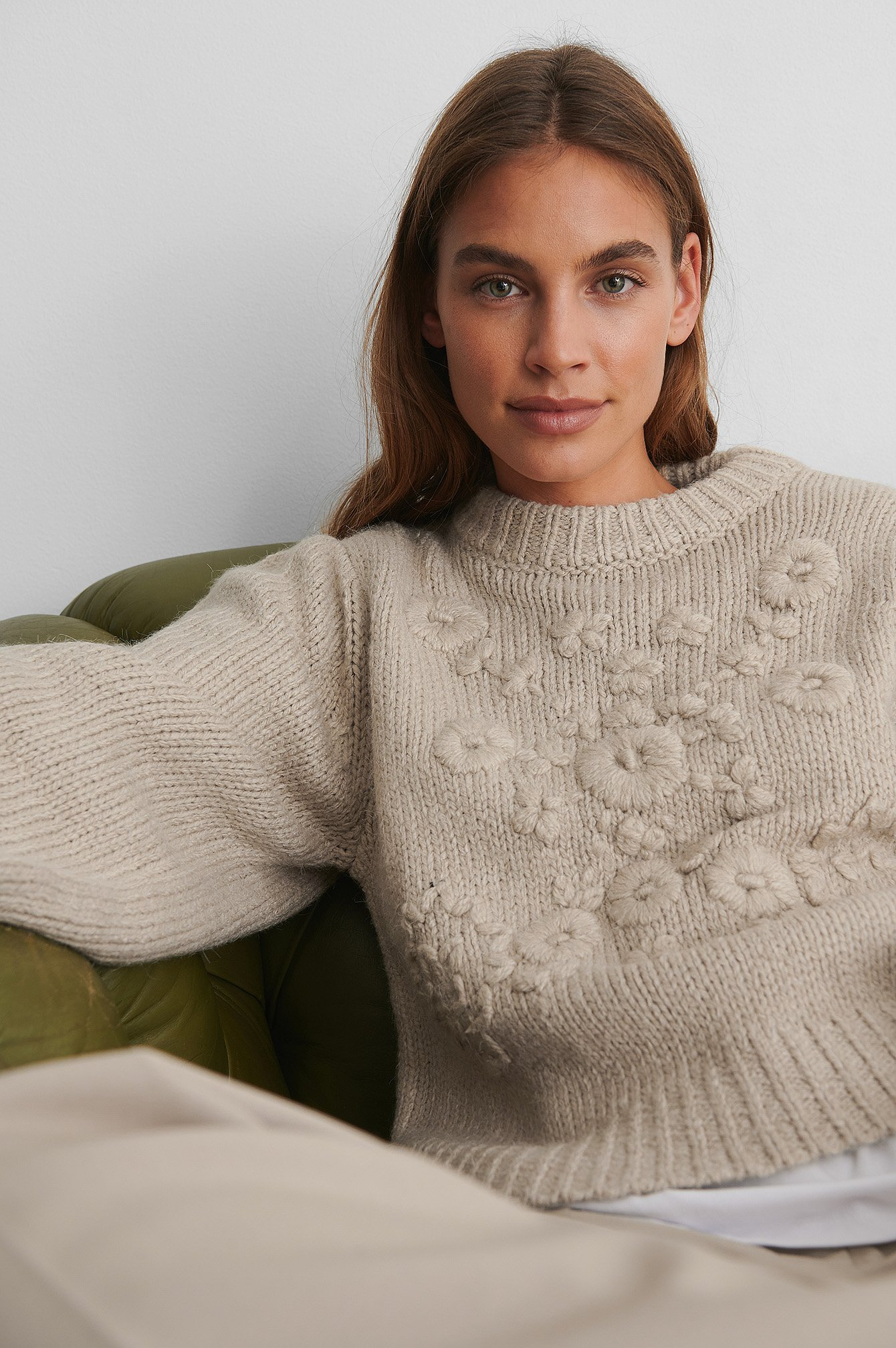 Light Beige Pull Maille