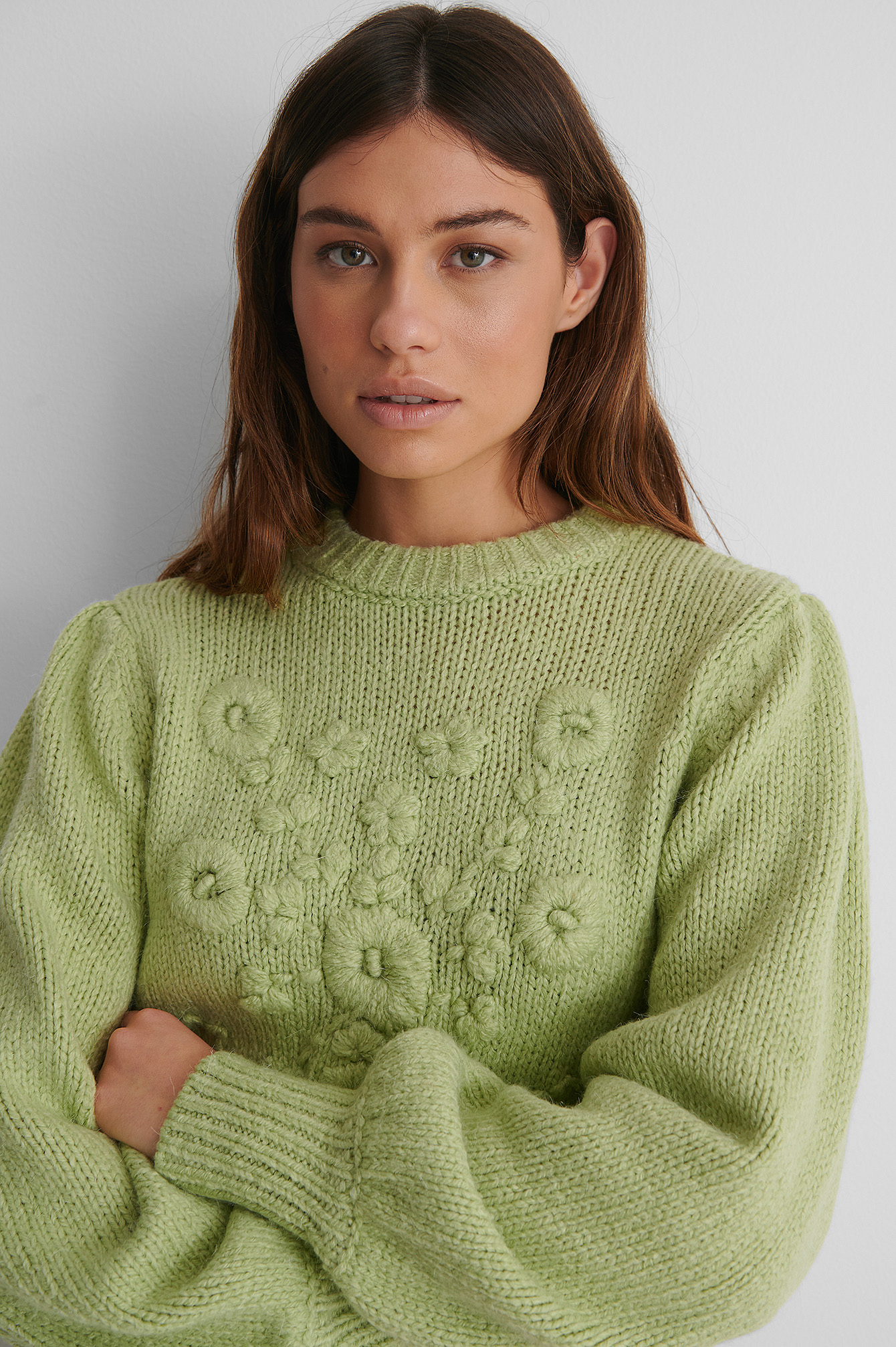 Light Green Pull Maille
