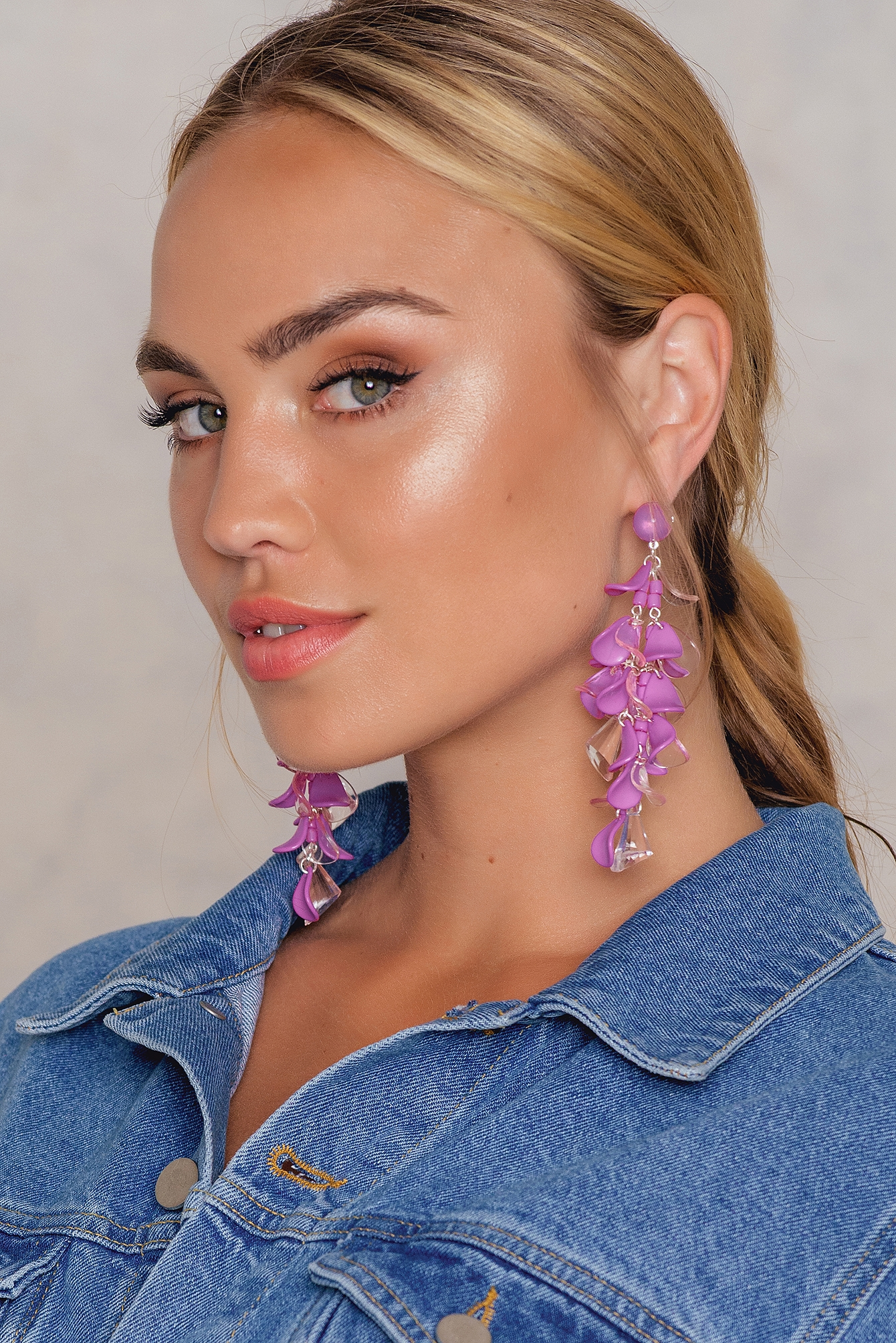 Pink Hanging Colored Earrings