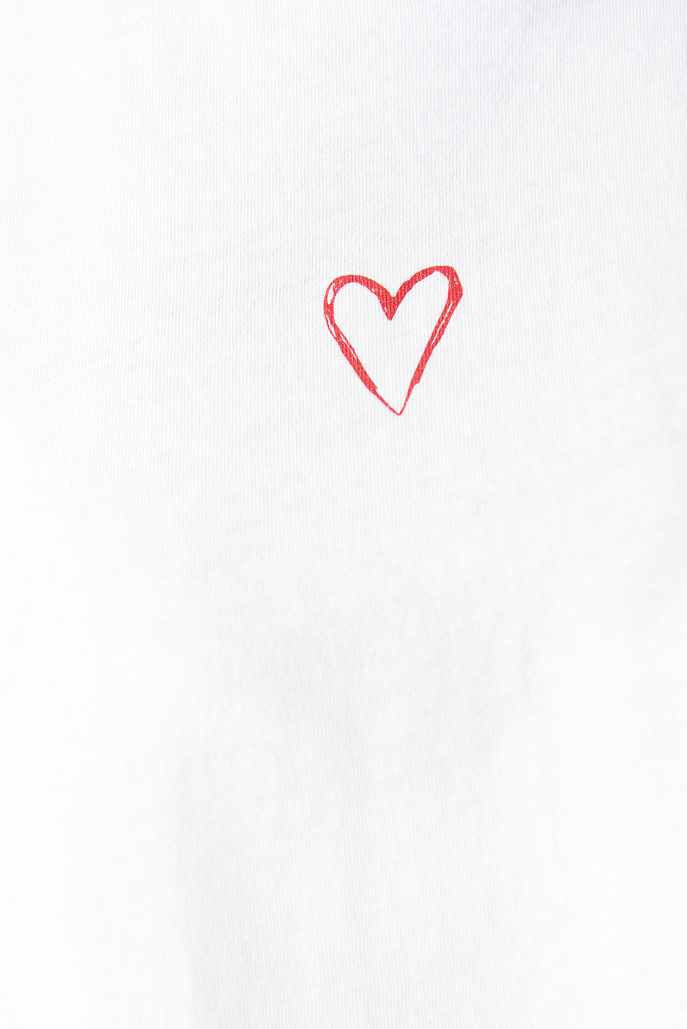 White/Red Heart Tee