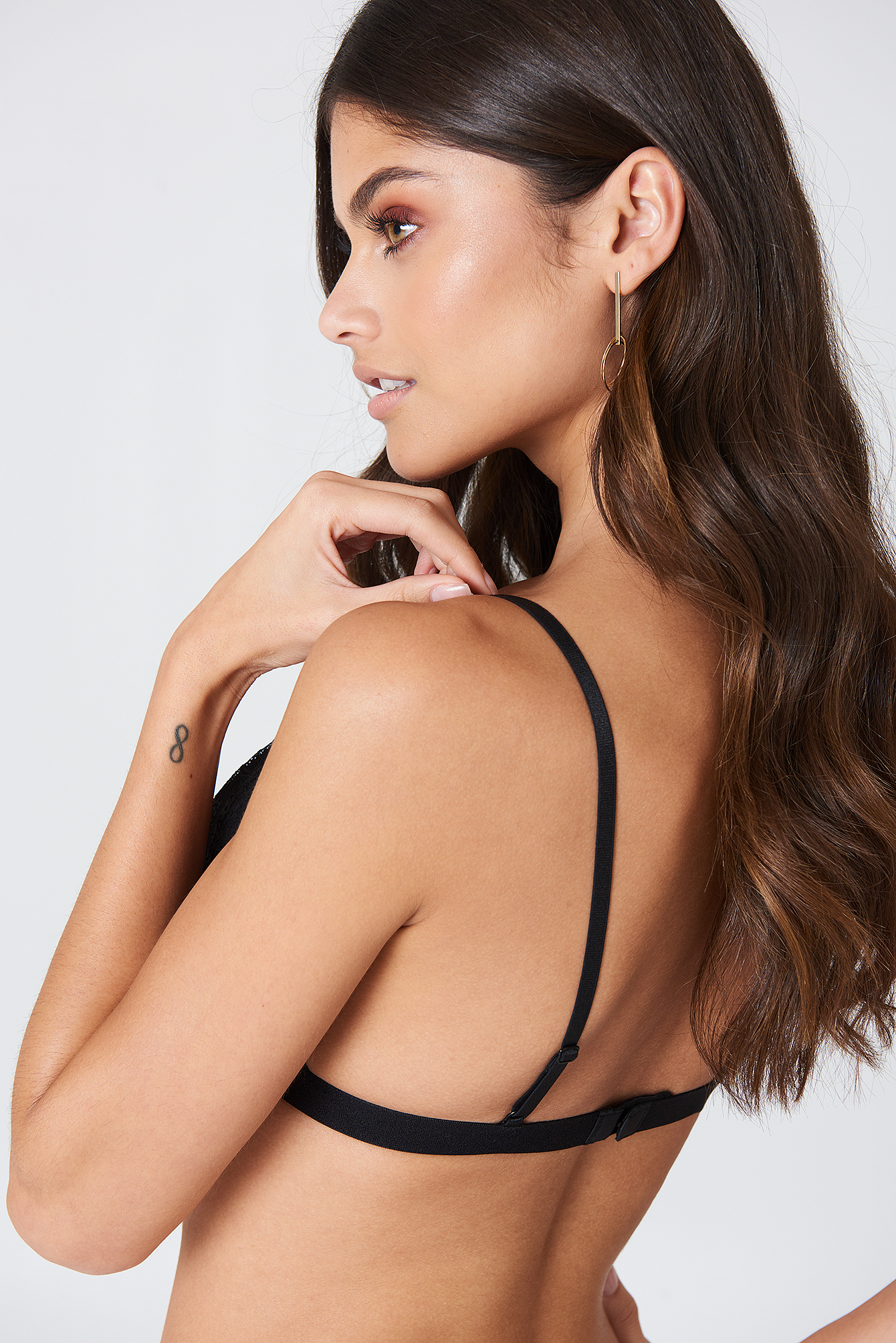 Black Triangle Lace Bra