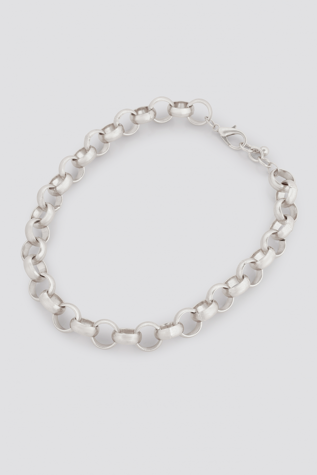 Silver Matte Chunky Chain Necklace