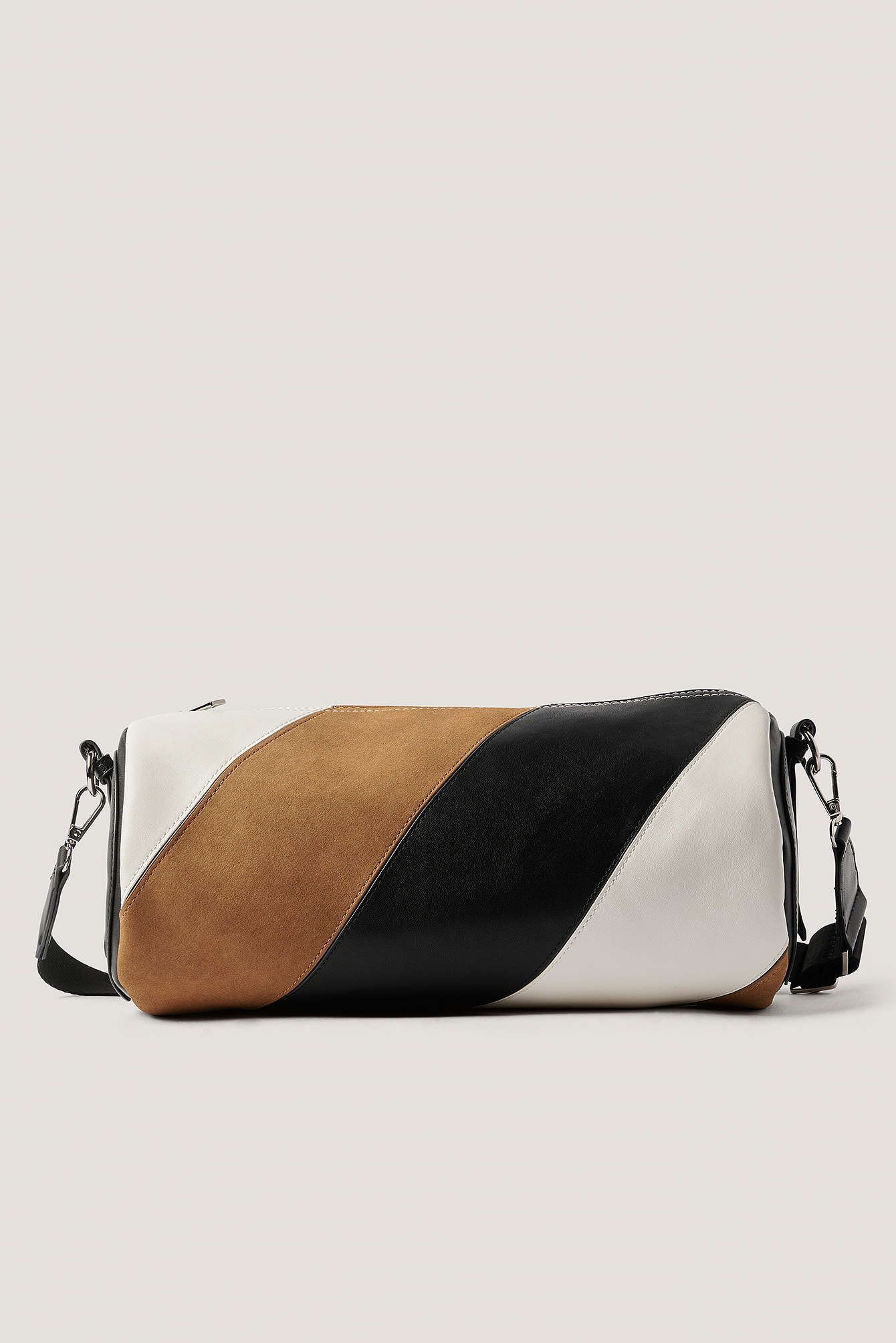 Black/Brown Sac Baril Multicolore