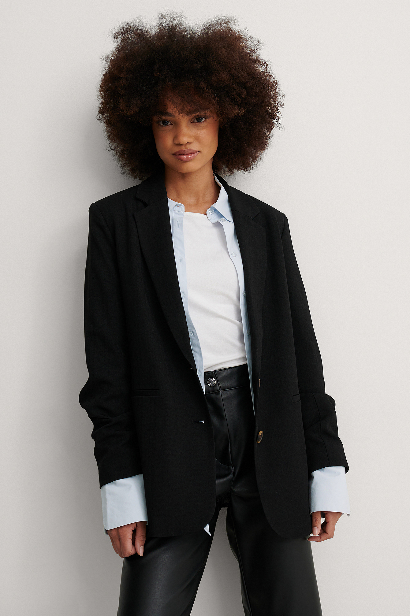 Black Recyclé Blazer