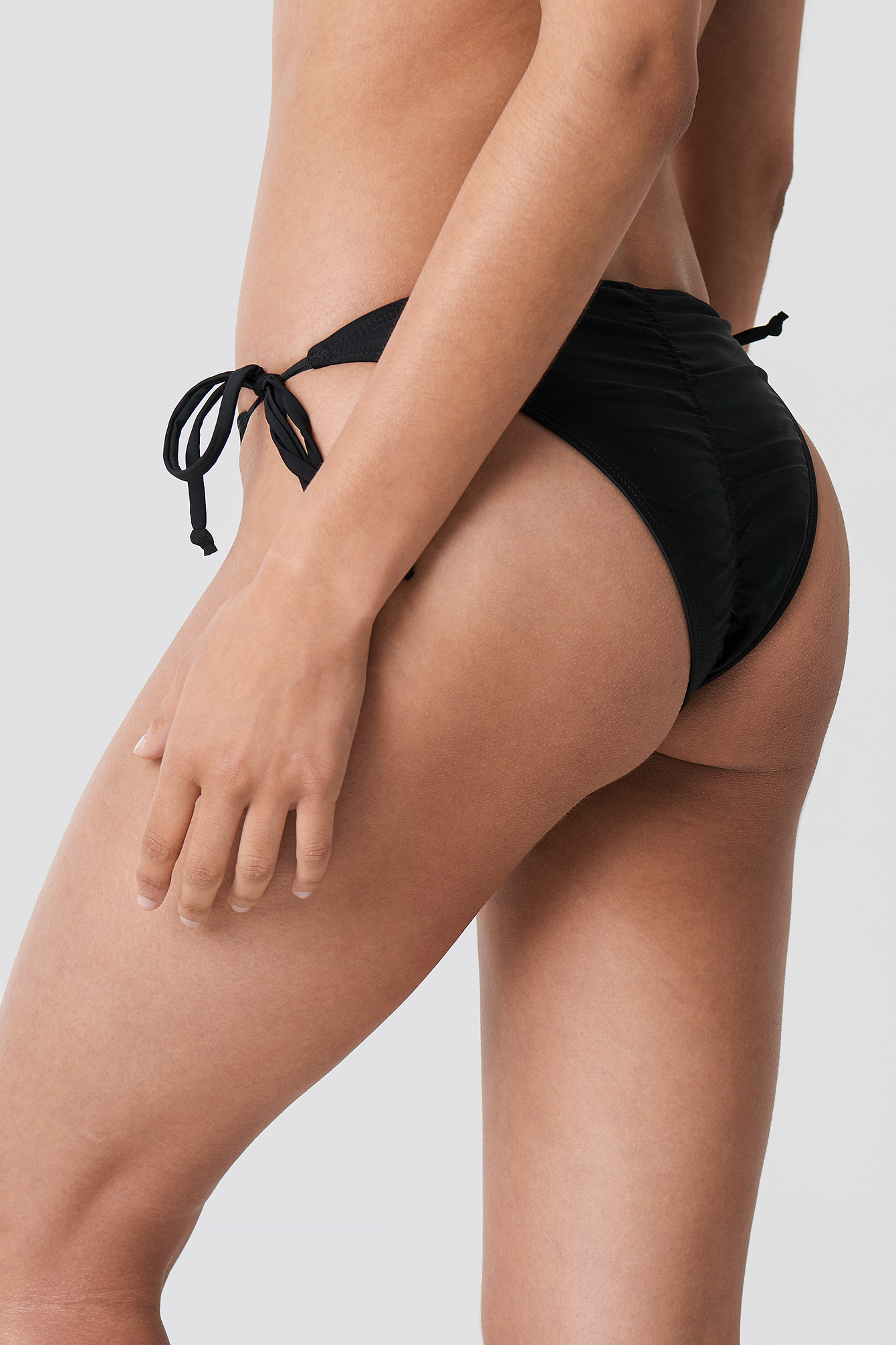Black Ruched Back Triangle Panty