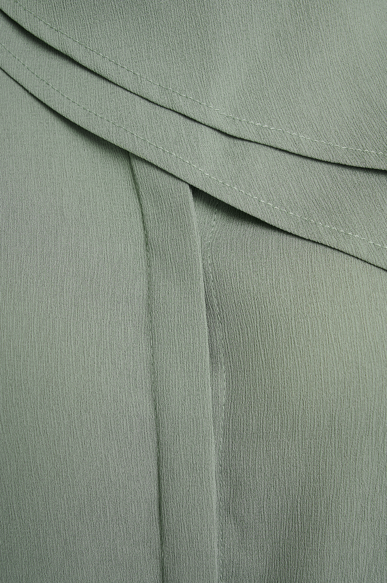 Dusty Green Scarf Detailed Blouse