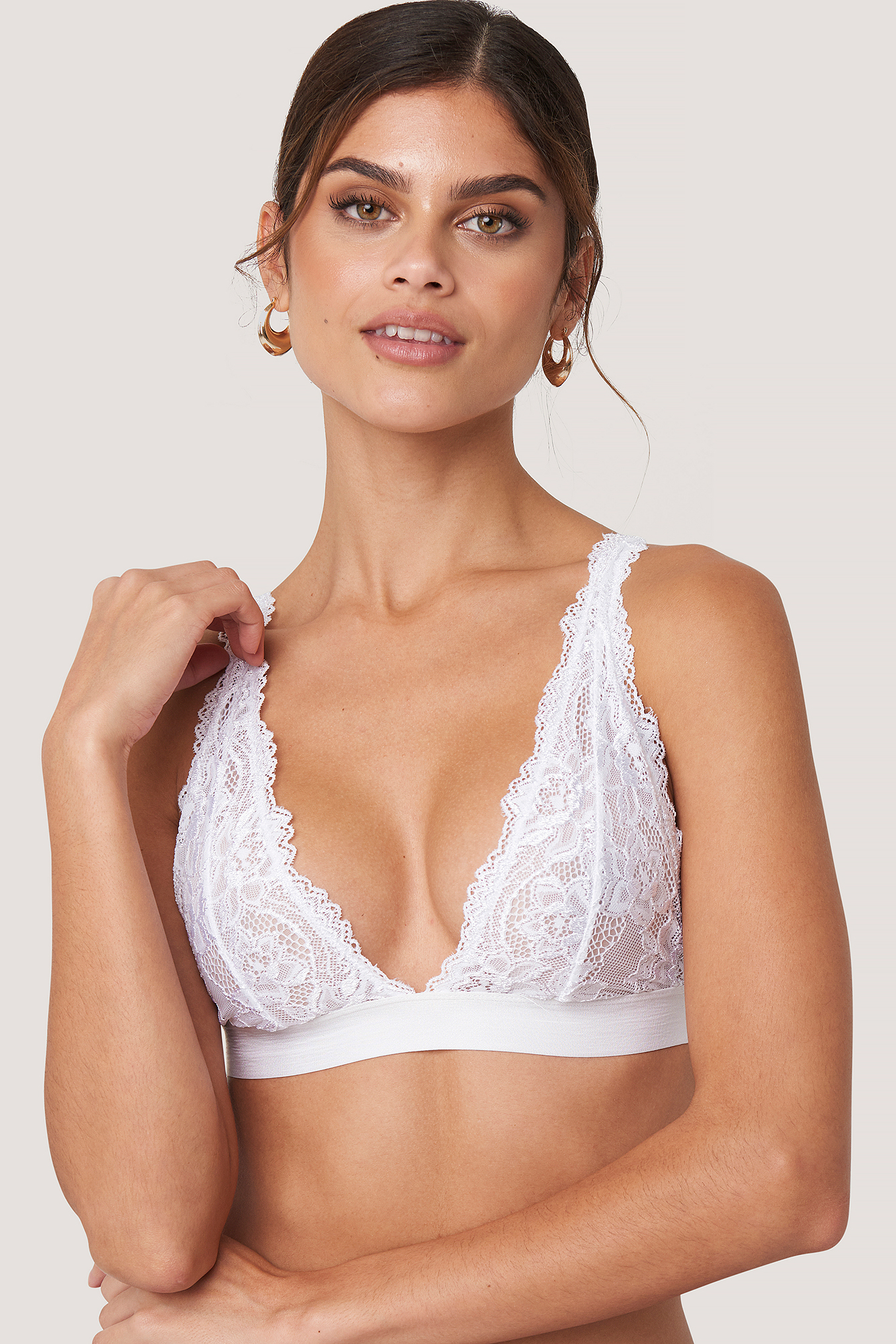 White Soft Lace Bra