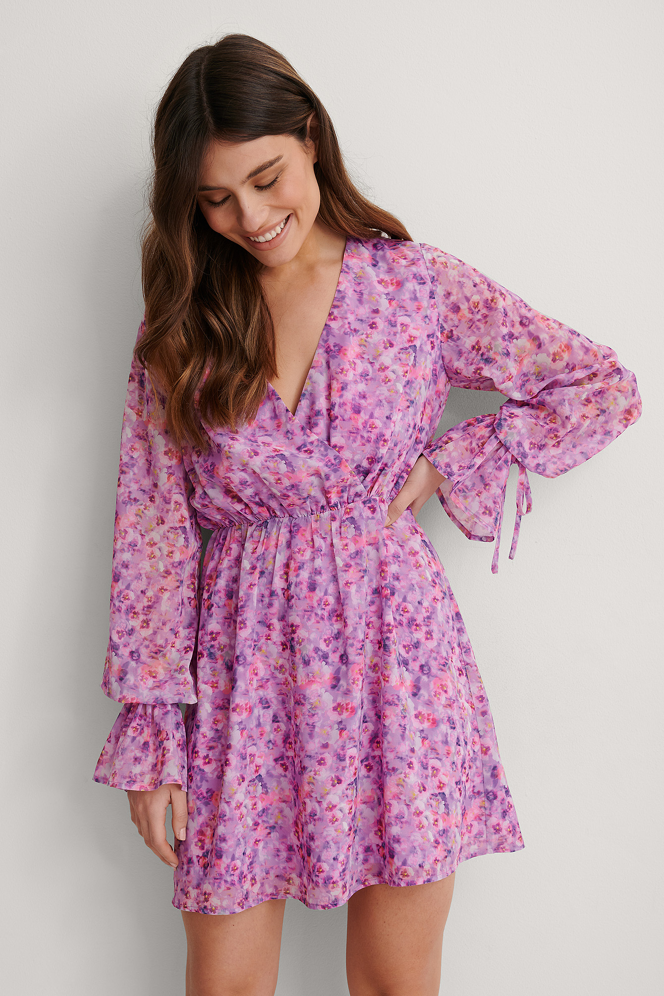 Lilac Flower Robe Mini
