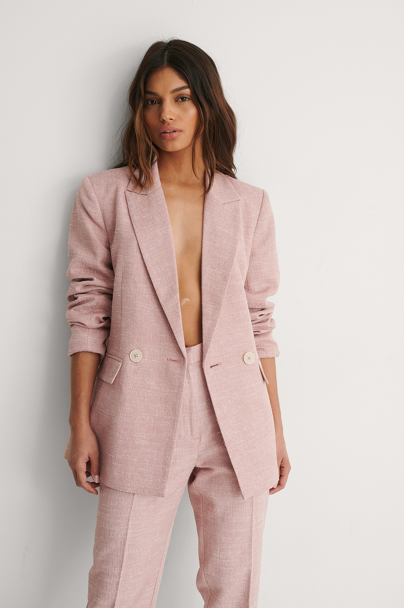 Dusty Pink Blazer Structuré