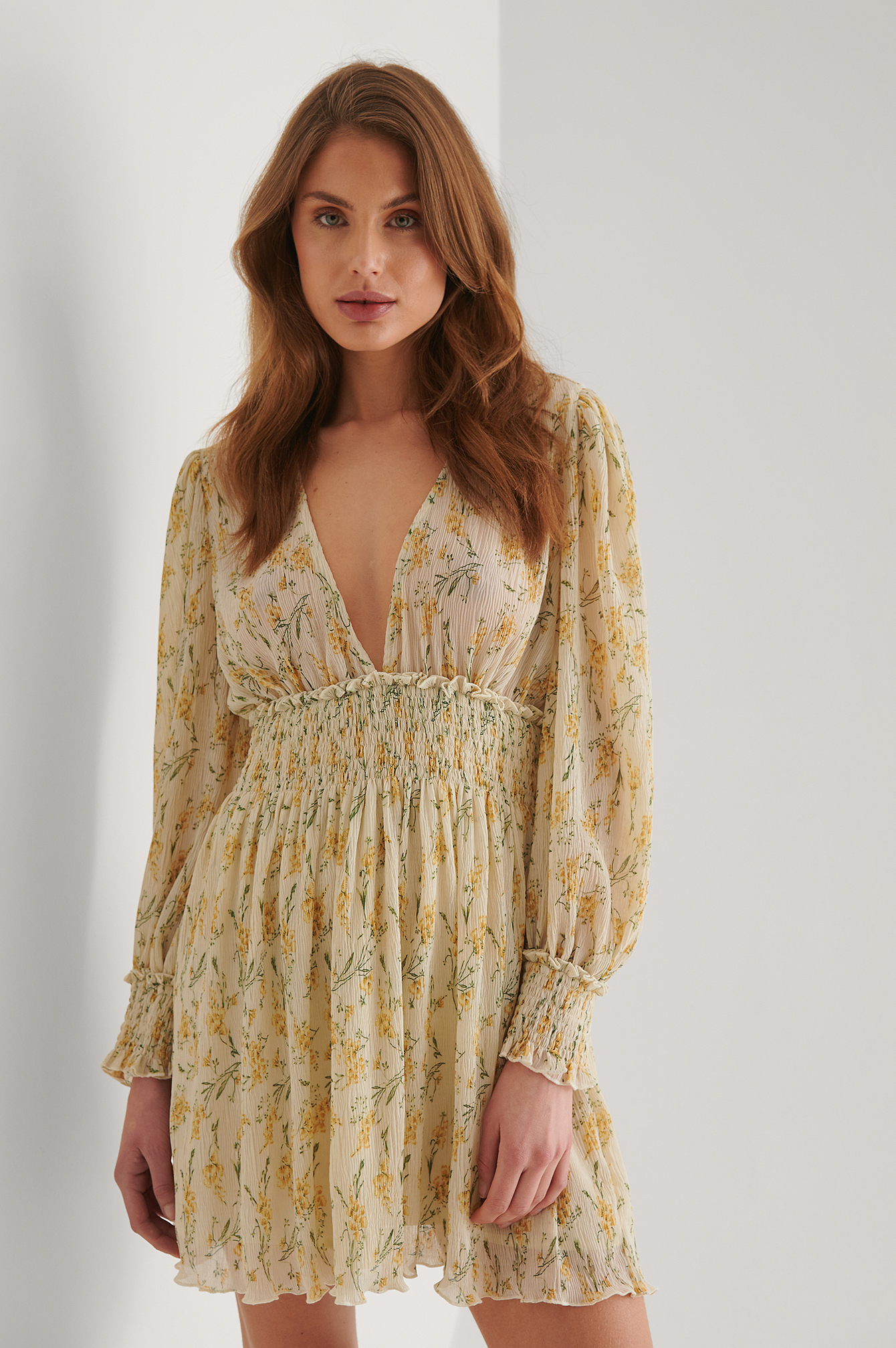 Yellow Flower Robe Mini