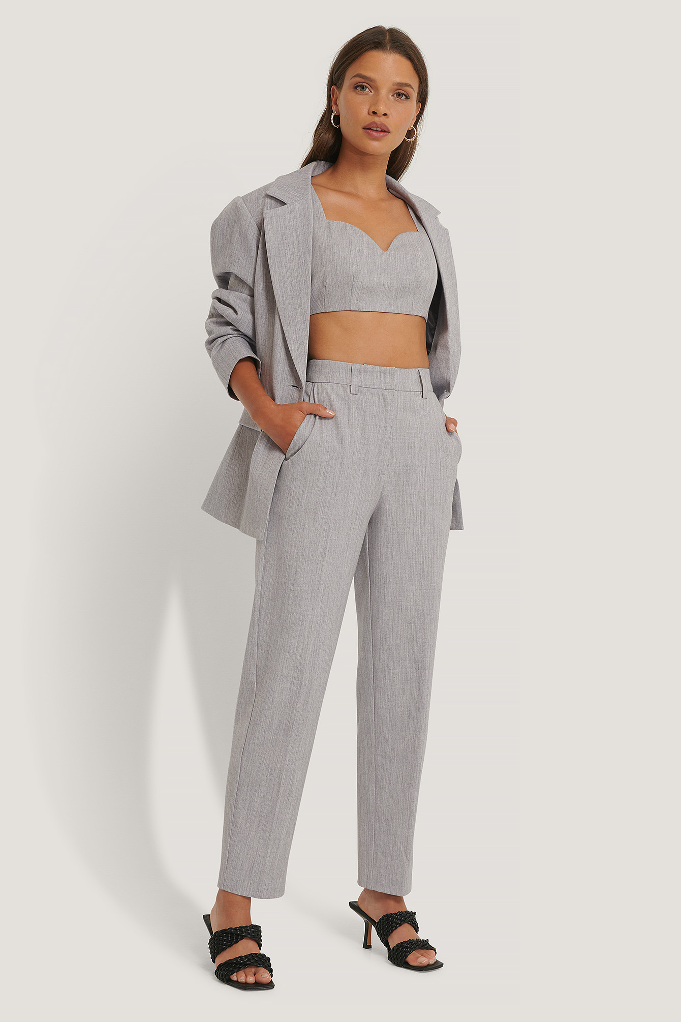 Light Grey Pantalon De Costume