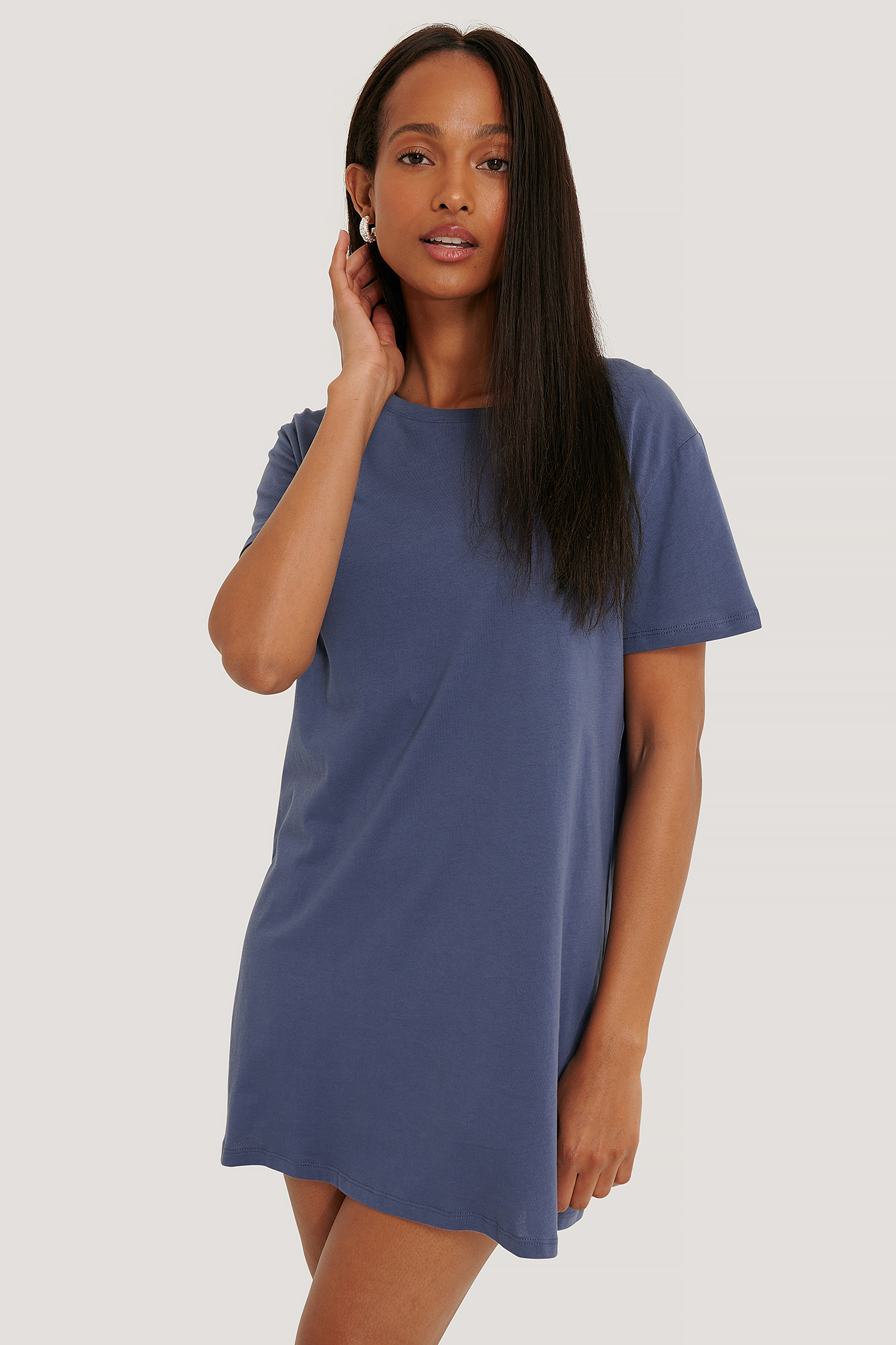 Dusty Midnight Blue Robe T-Shirt