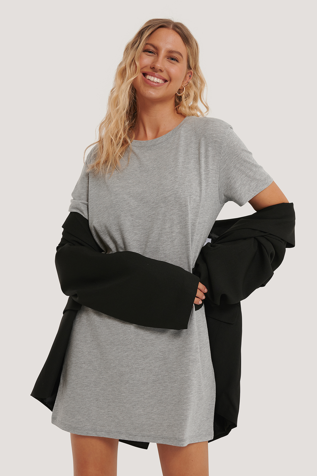 Grey Melange Robe T-Shirt