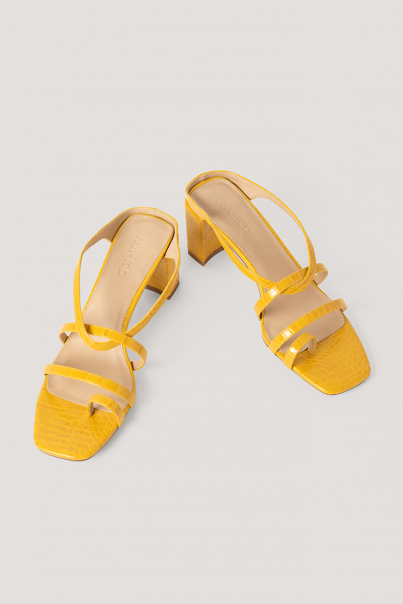 Yellow Sandale Talon Haut