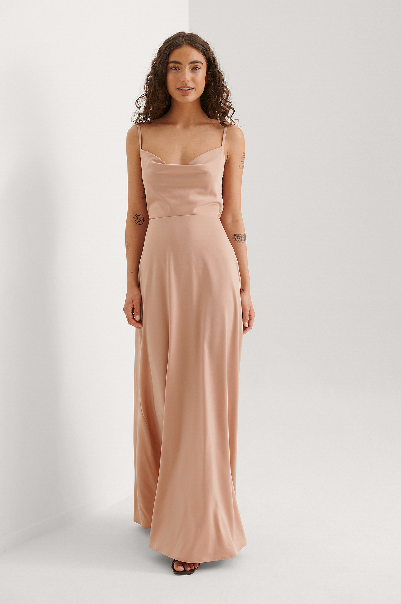 Dusty Pink Maxi Robe