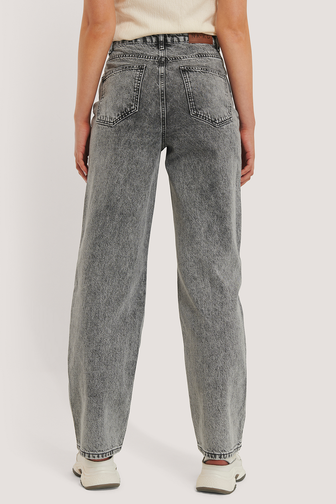 Grey Wide Leg Denim