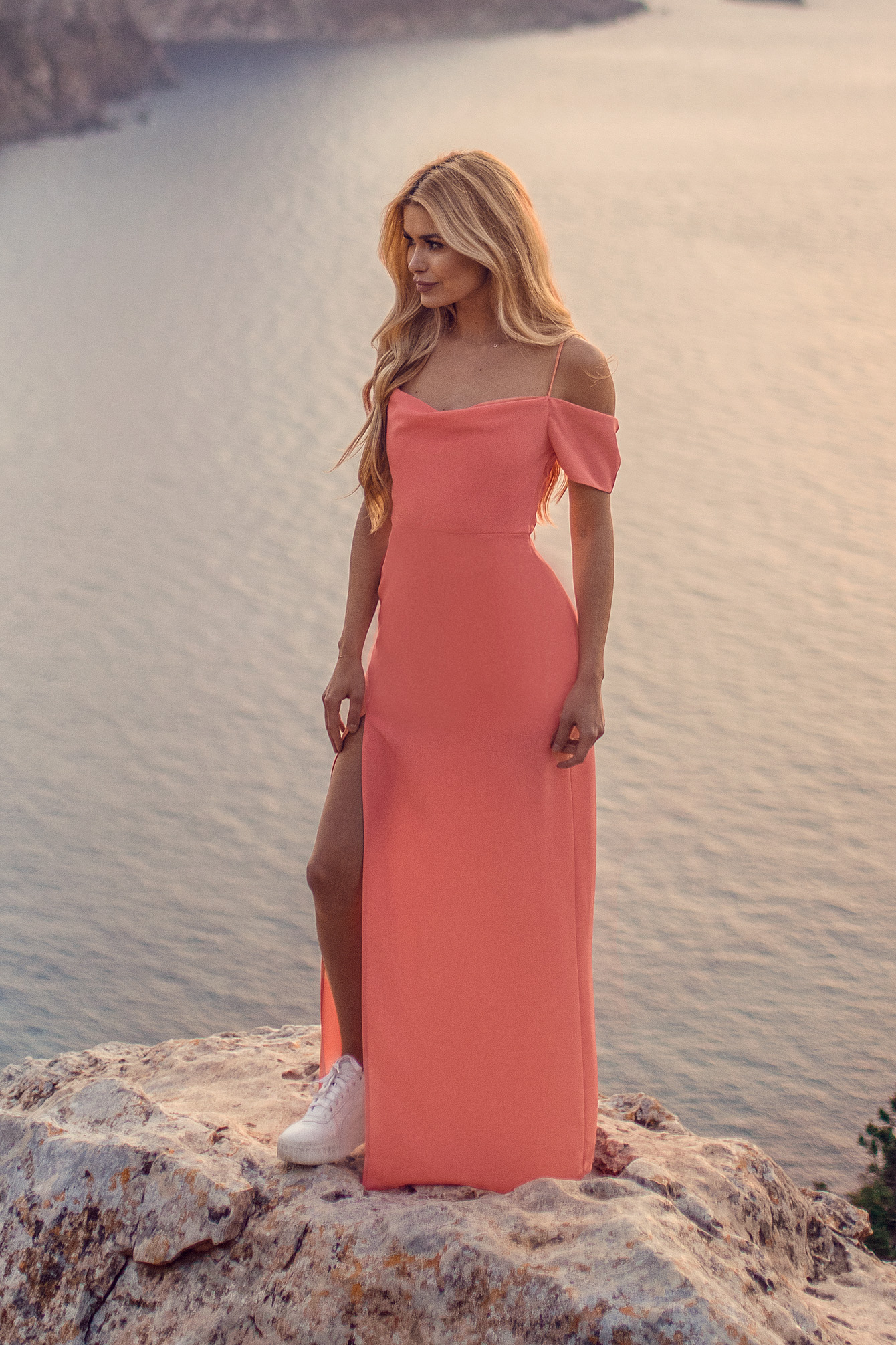 Dusty Coral Maxi Robe