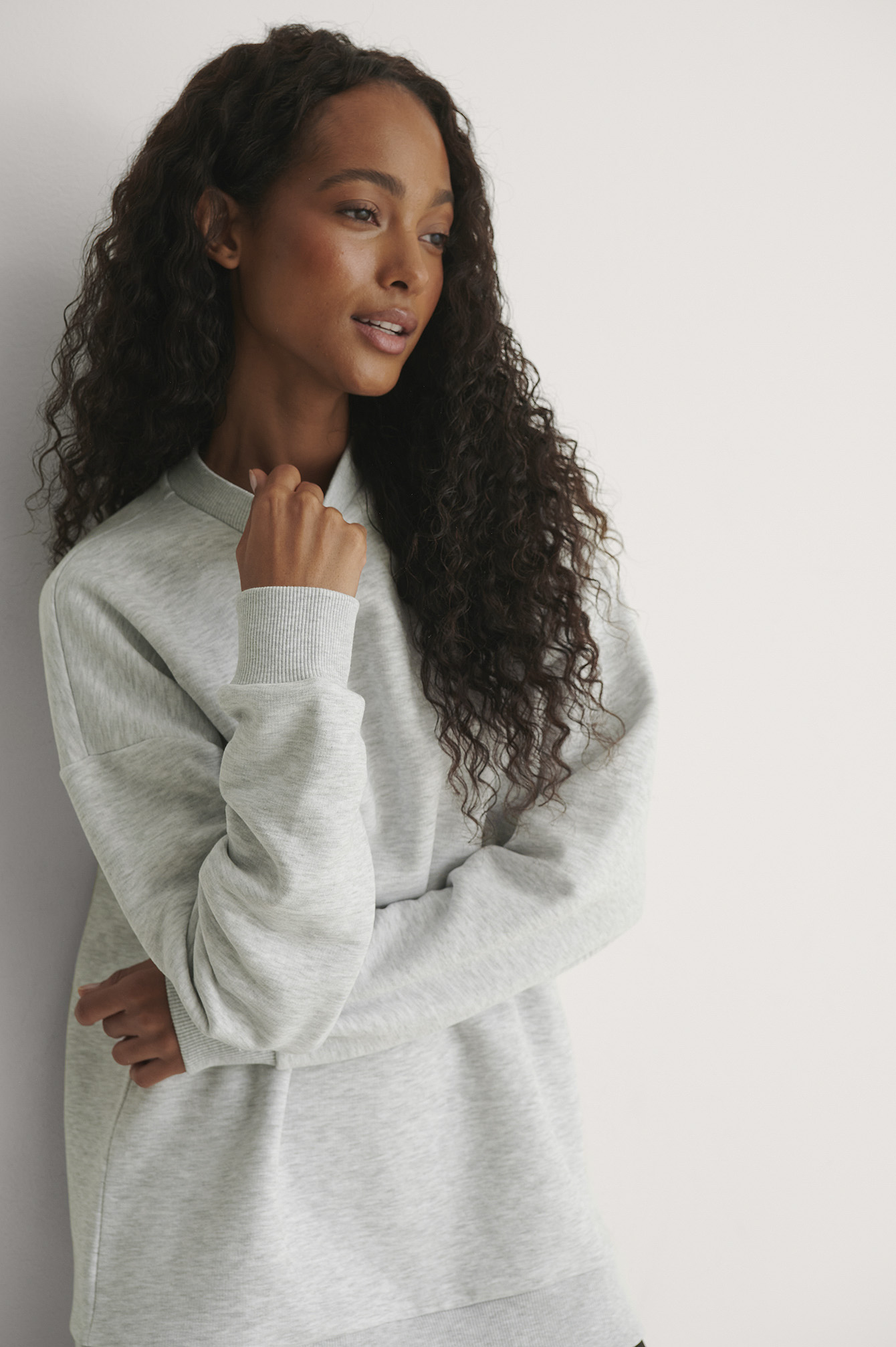 Grey Sweatshirt Oversize