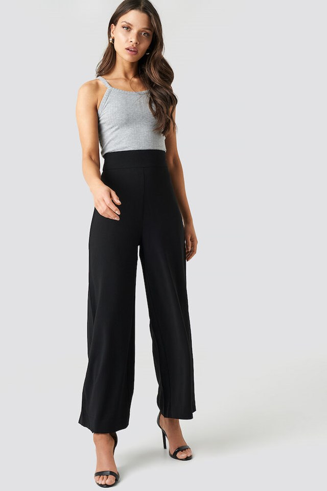 Ribbed Round Neck Singlet Outfit.