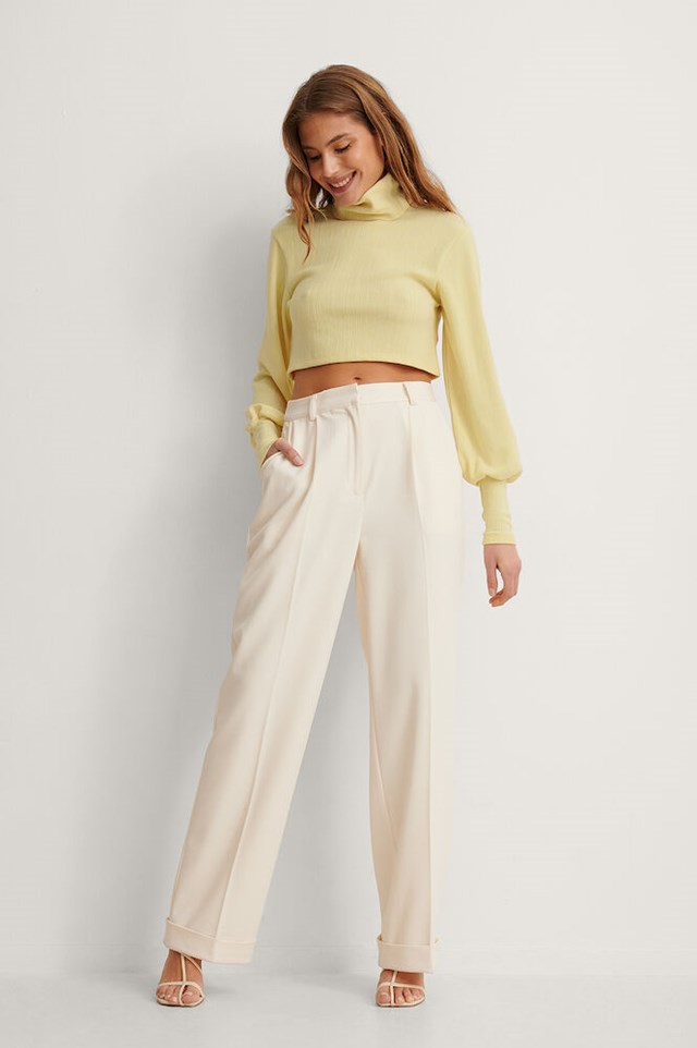 Heavy Jersey Cropped Top Outfit!