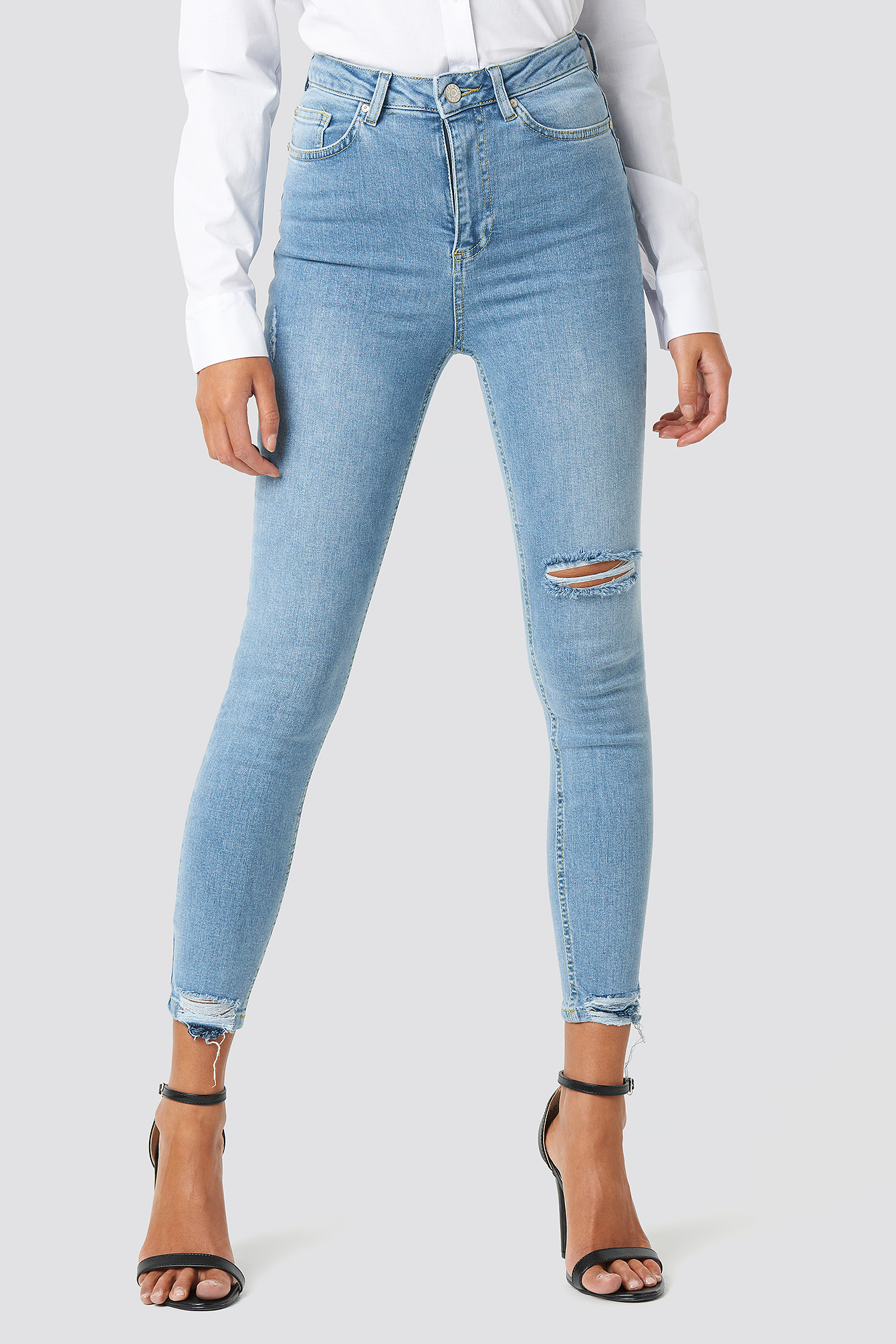 Blue Milla Skinny Cropped Jeans