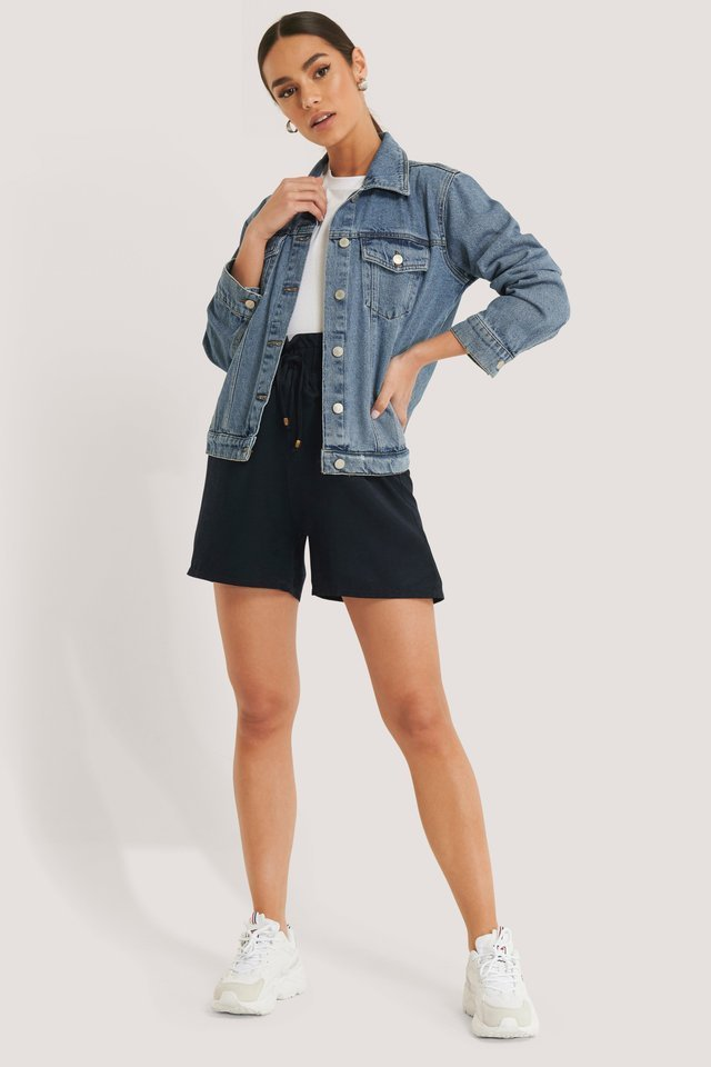 Belted High Waist Shorts Outfit.