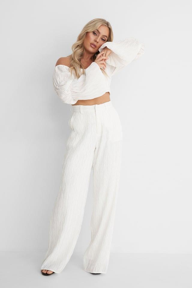 Pantalon Jambe Large Off White