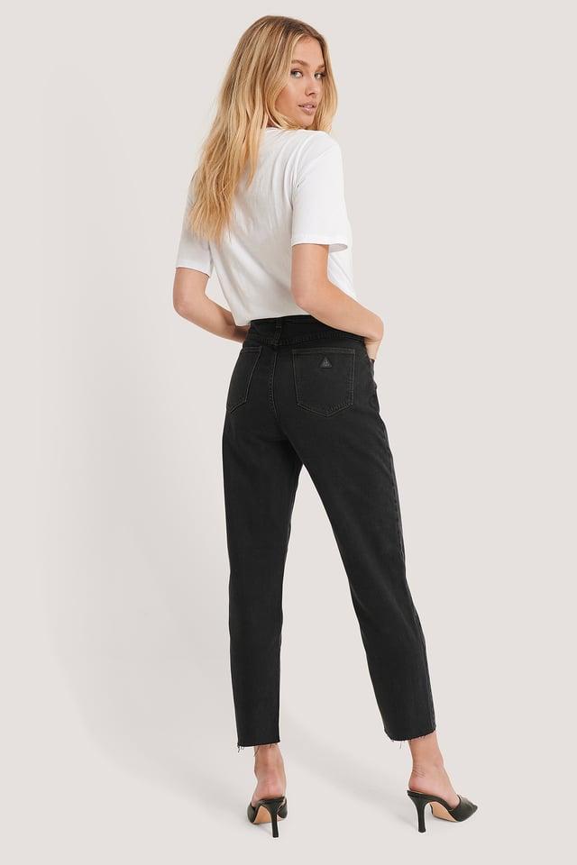 Jean Slim Taille Haute Black Box