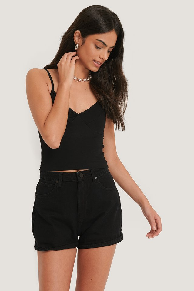 Overdyed Black A High Relaxed Short