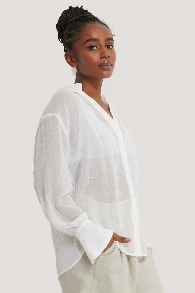 Offwhite Loose Fitted Shirt