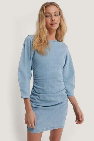 Light Blue Robe Mini En Jean