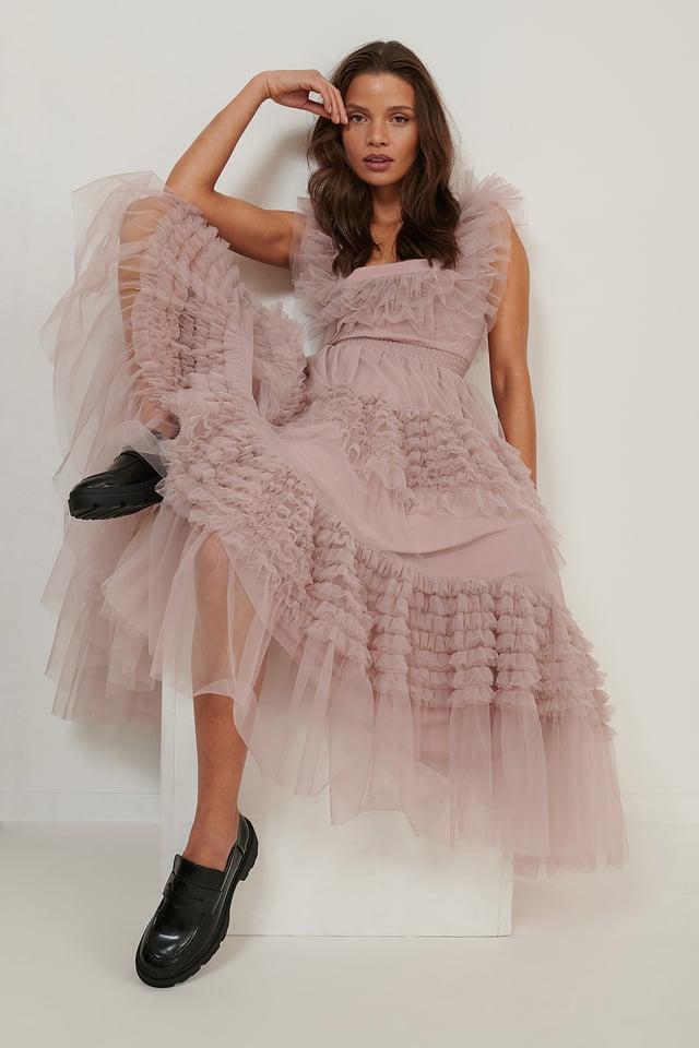 Tulle Dress Dusty Pink